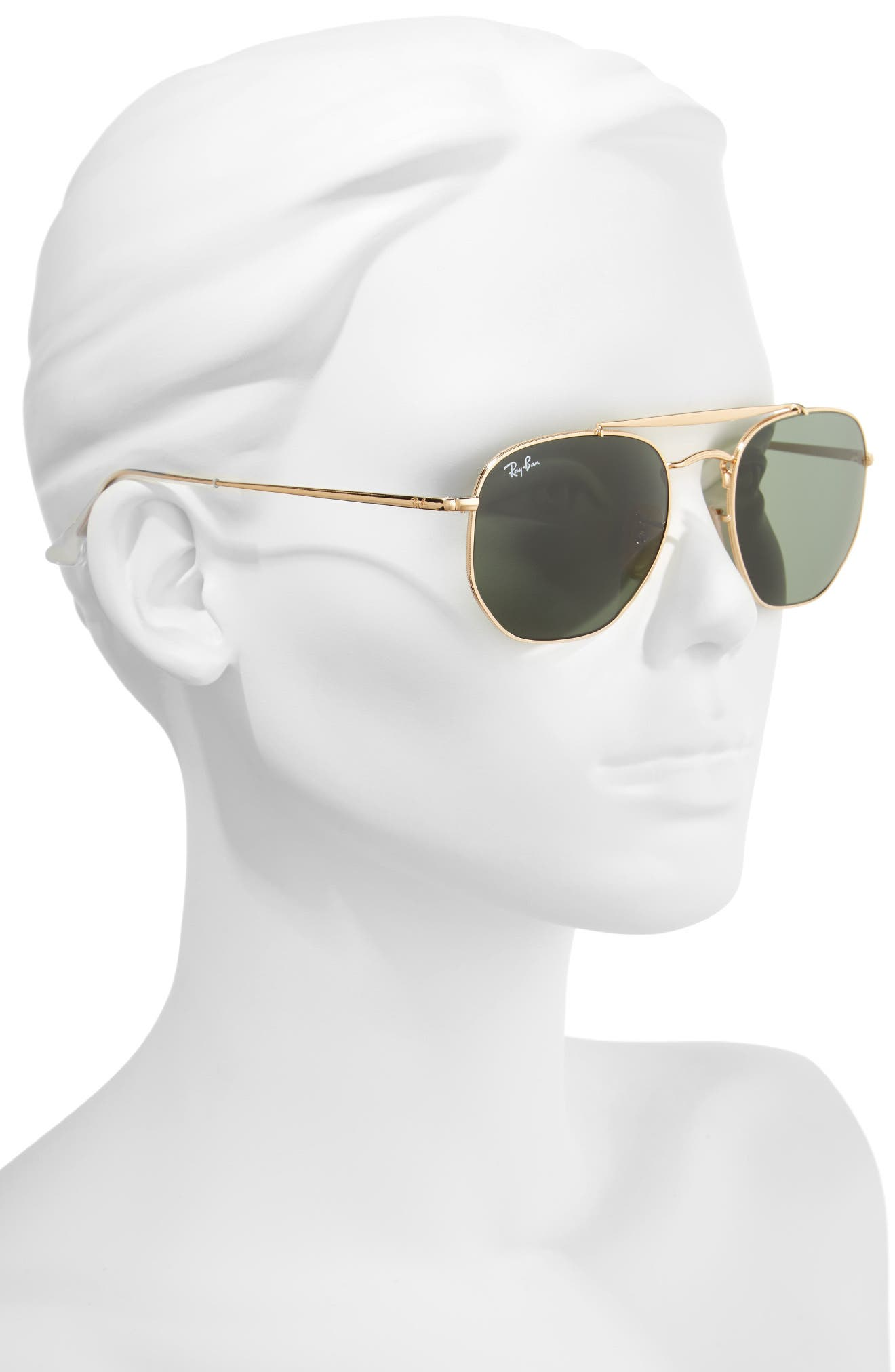 3592 54mm Sunglasses,                             Alternate thumbnail 2, color,                             Gold Green