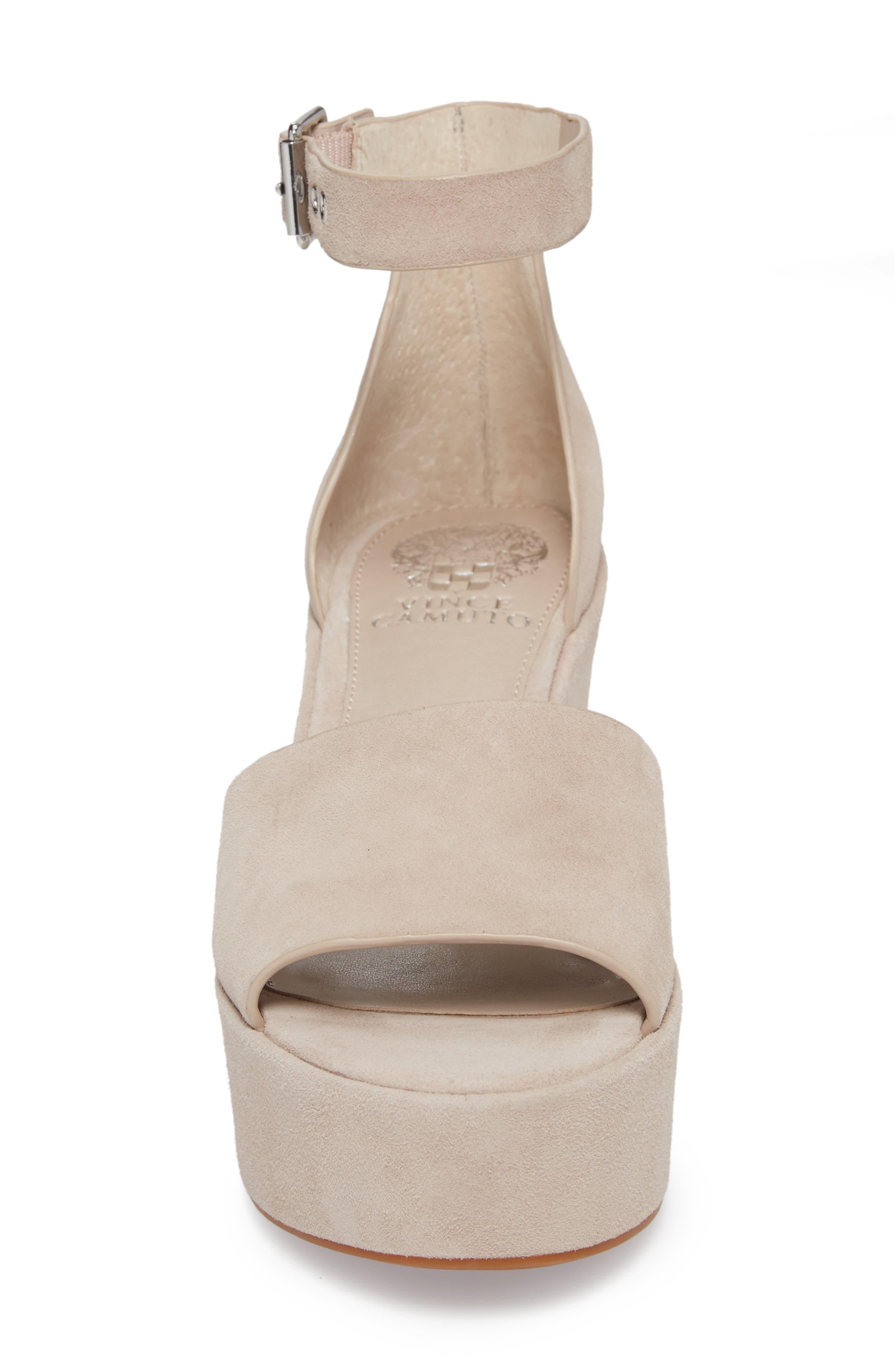 Korista Platform Sandal,                             Alternate thumbnail 4, color,                             Tipsy Taupe Suede