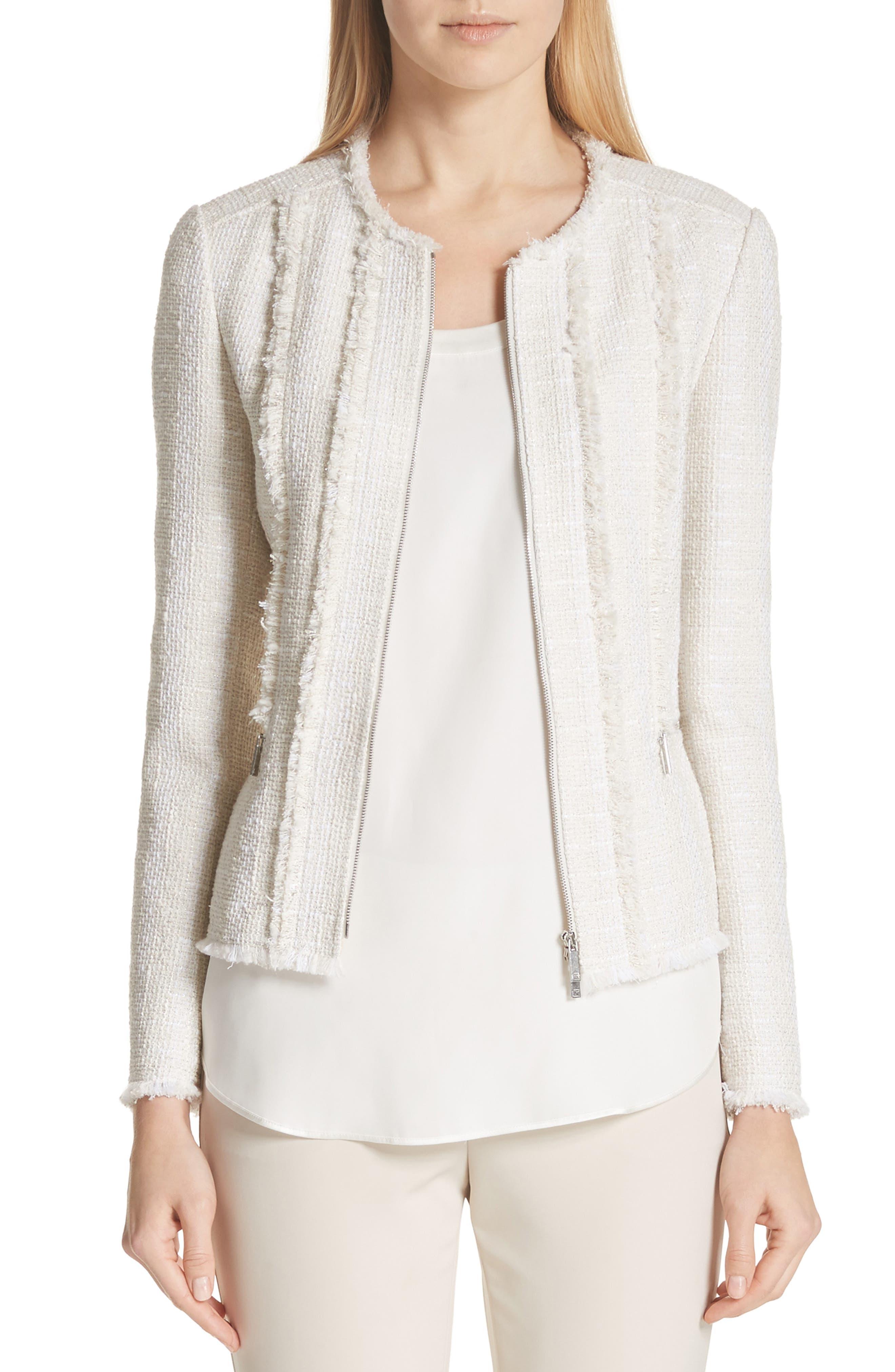 Noelle Jacket,                         Main,                         color, Raffia Multi