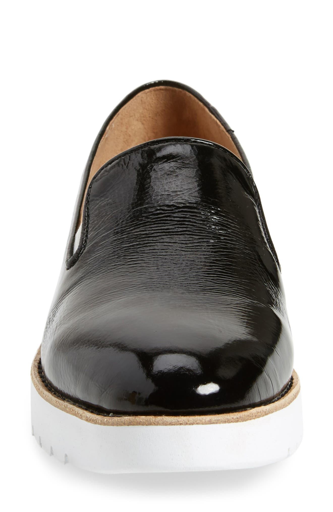 Penelope Loafer,                             Alternate thumbnail 4, color,                             Black Crinkle Patent