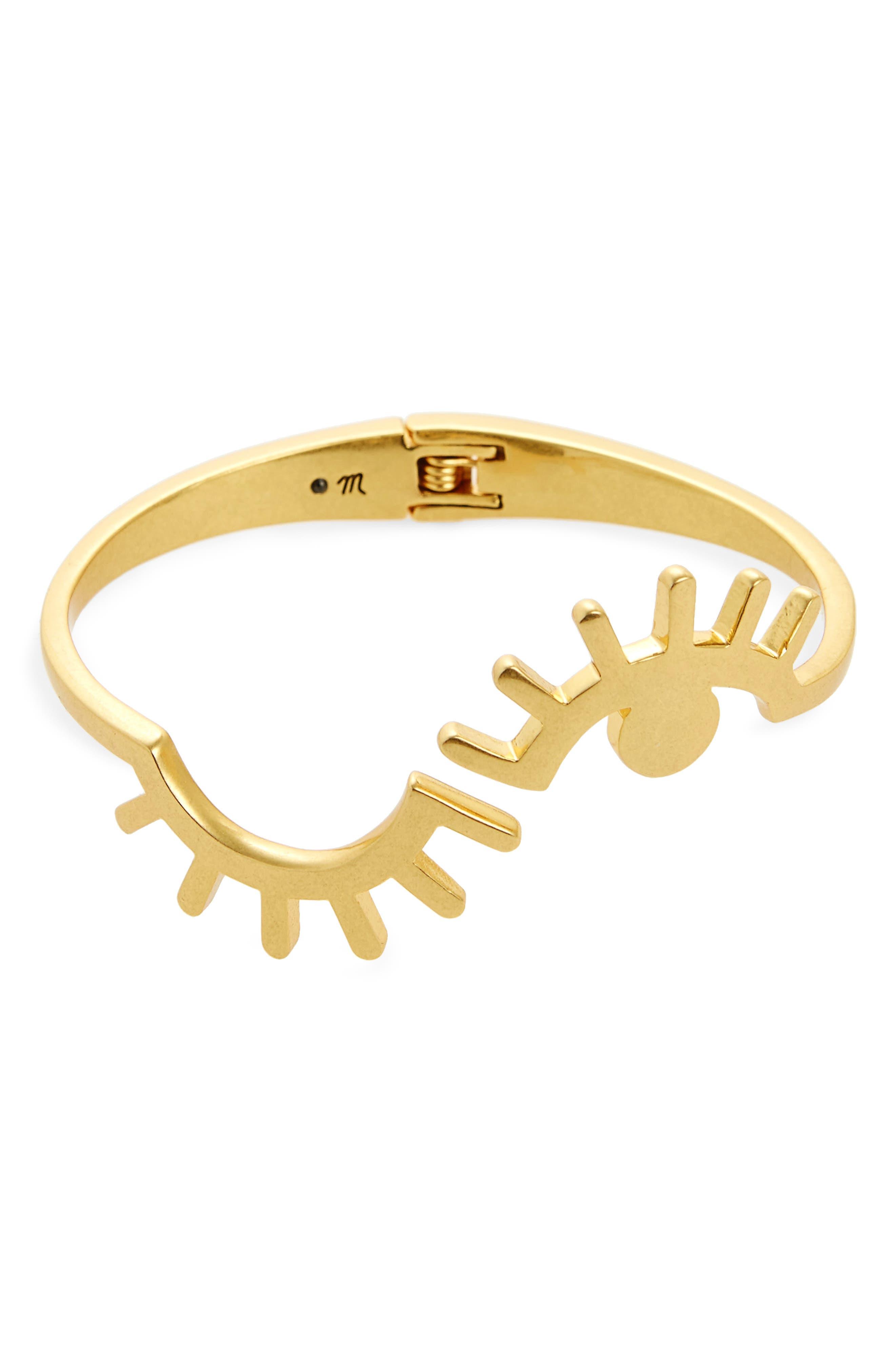 Looker Hinge Cuff Bracelet,                             Main thumbnail 1, color,                             Vintage Gold