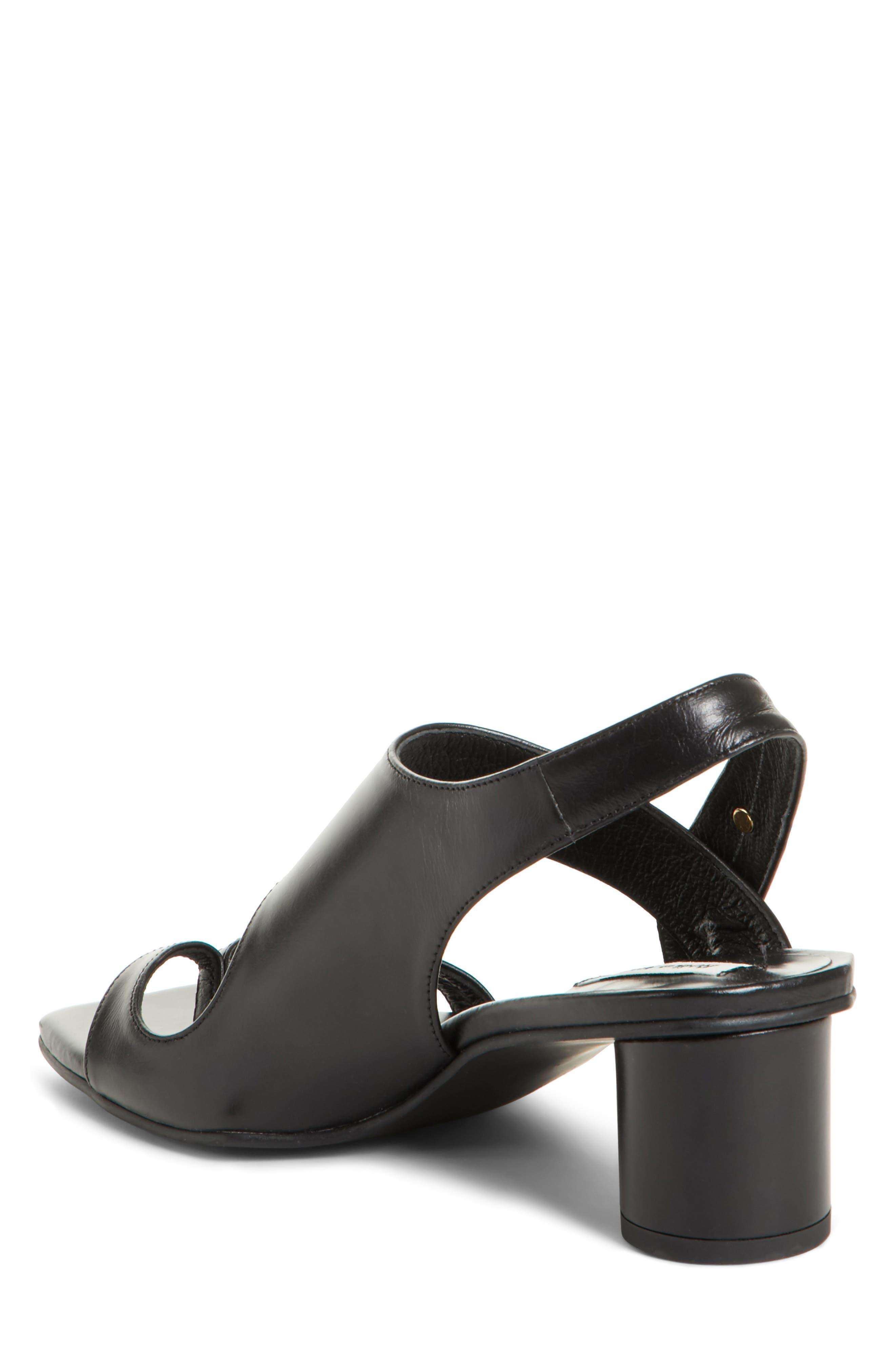 Embellished Leather Sandal,                             Alternate thumbnail 3, color,                             Black