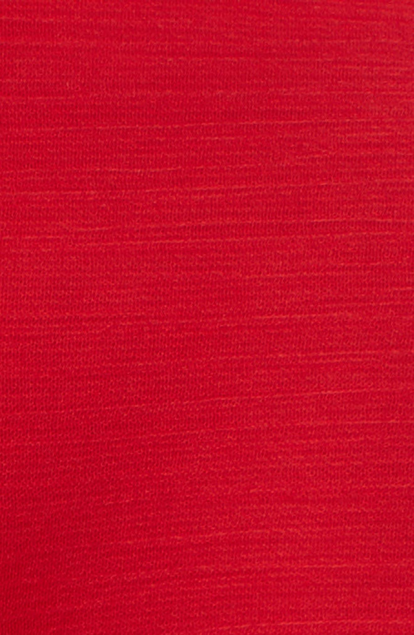 Sheer Drawstring Shirtdress,                             Alternate thumbnail 6, color,                             Red