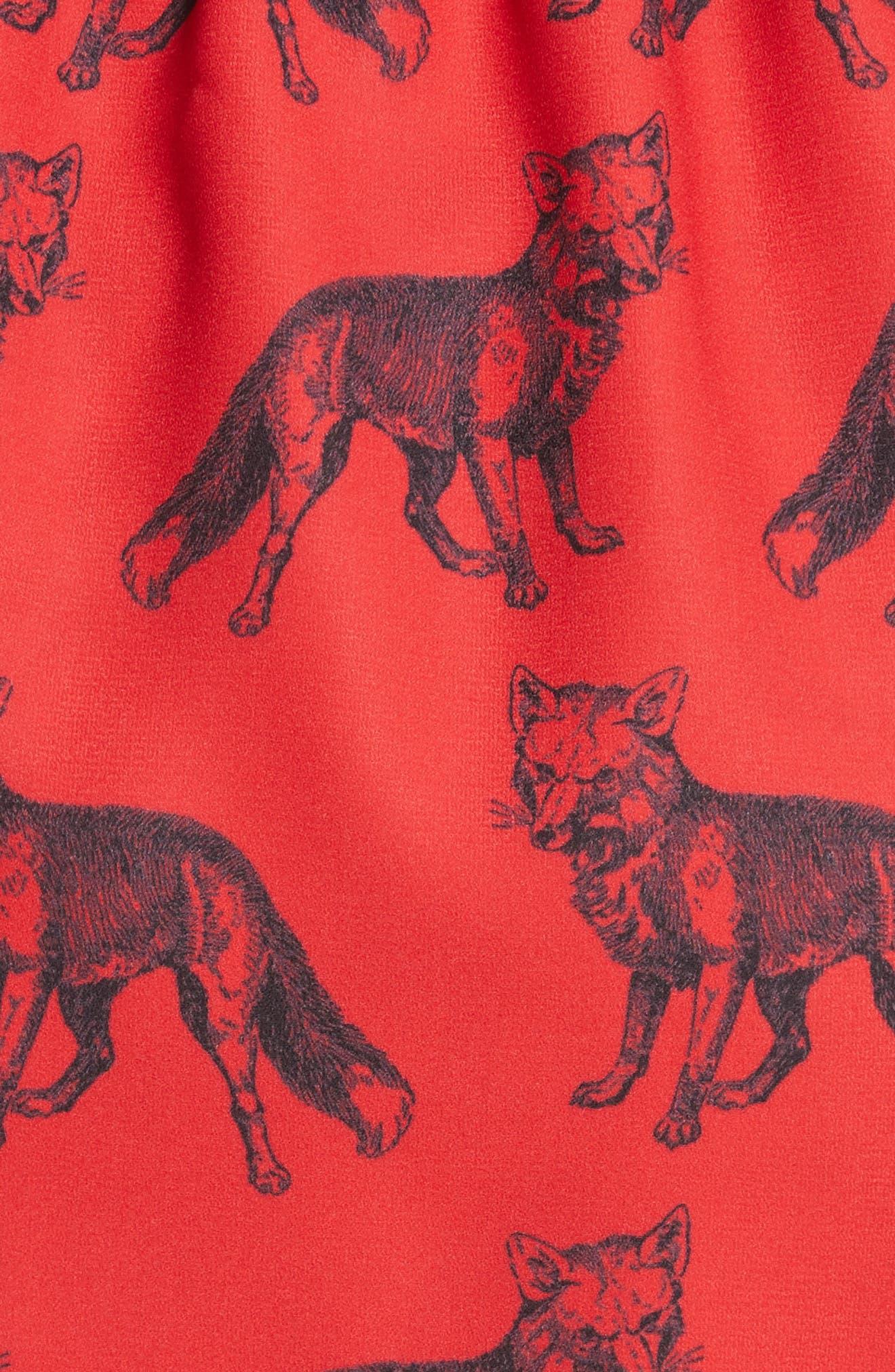 Fox/Girl Reversible Skirt,                             Alternate thumbnail 5, color,                             Ivory/ Red