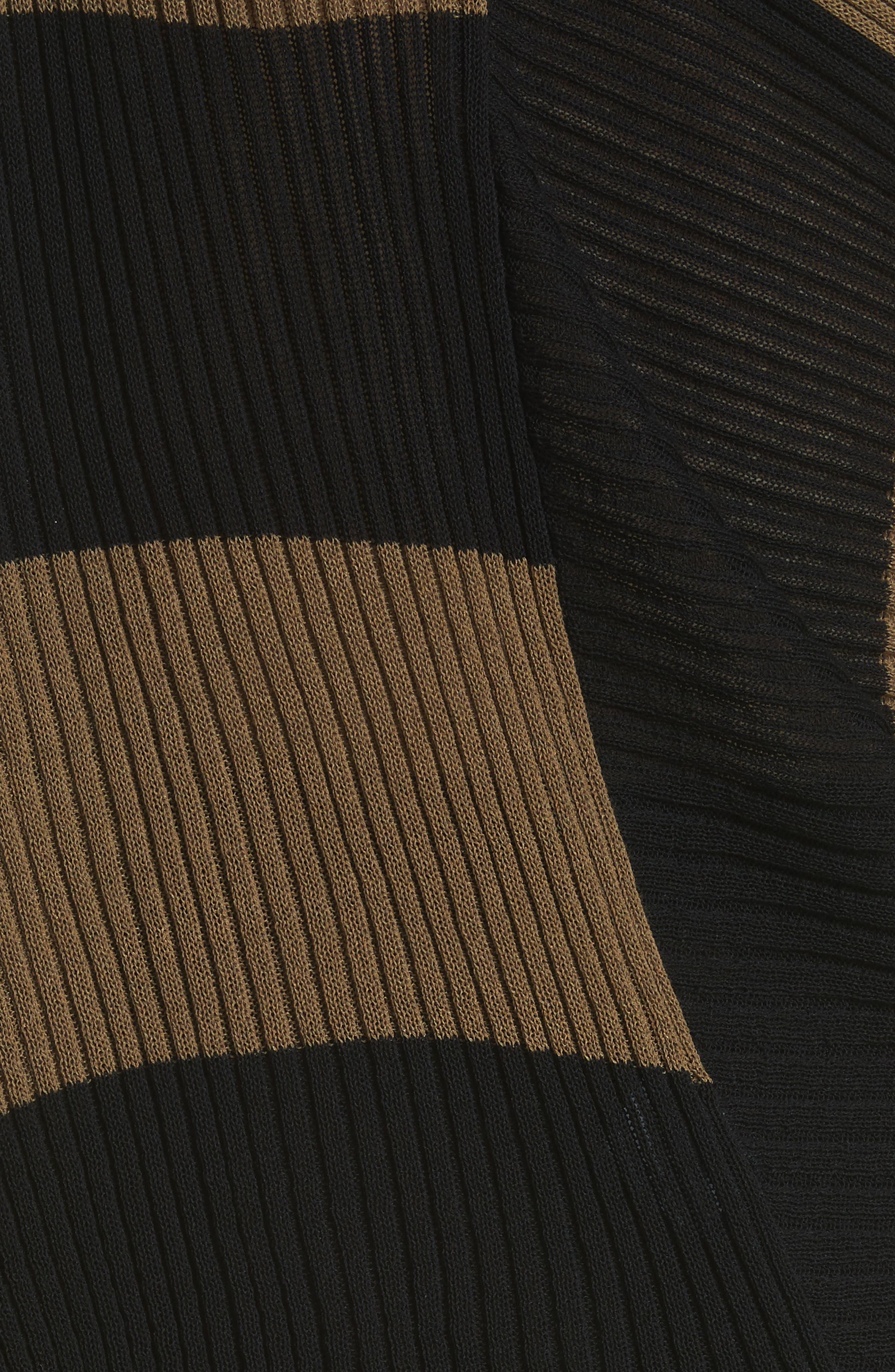 Marques'Almeida Draped One Sleeve Sweater,                             Alternate thumbnail 6, color,                             Khaki/ Black