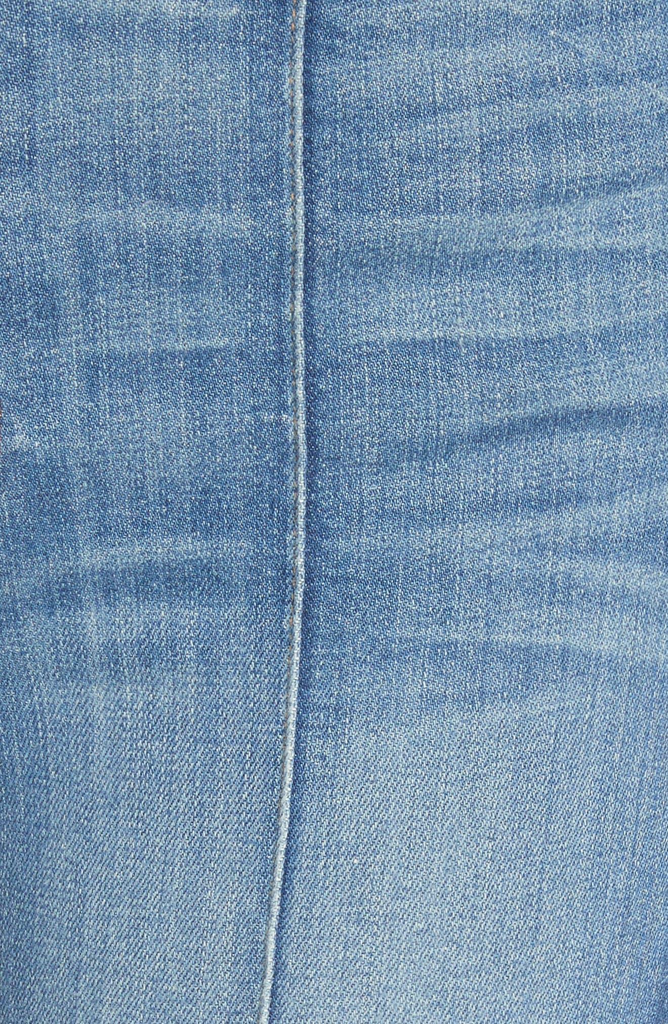 AO.LA Good High Waist Pintuck Skinny Jeans,                             Alternate thumbnail 5, color,                             Roadhouse Blues