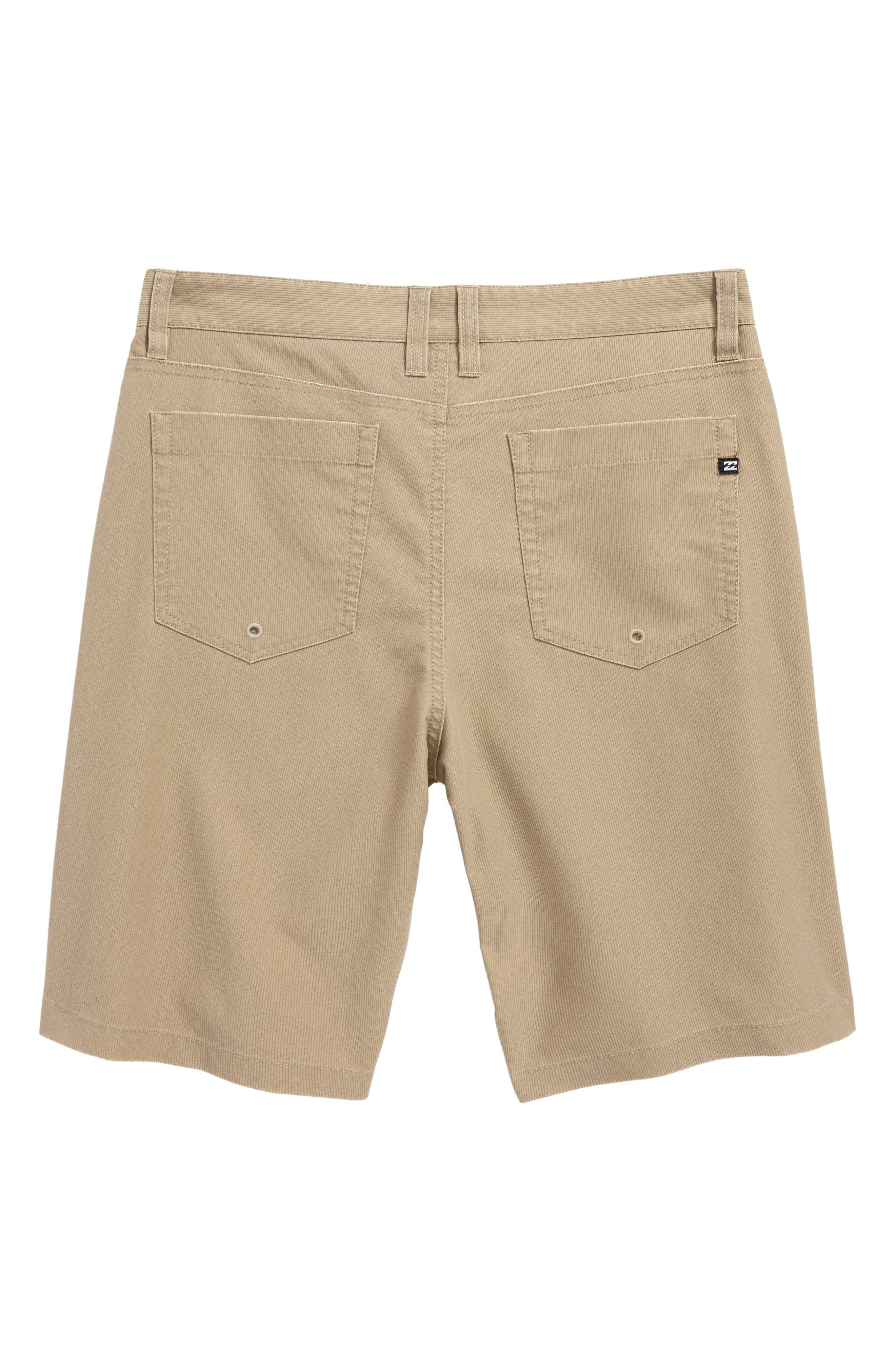 Outsider X Surf Corduroy Hybrid Shorts,                             Alternate thumbnail 2, color,                             Khaki