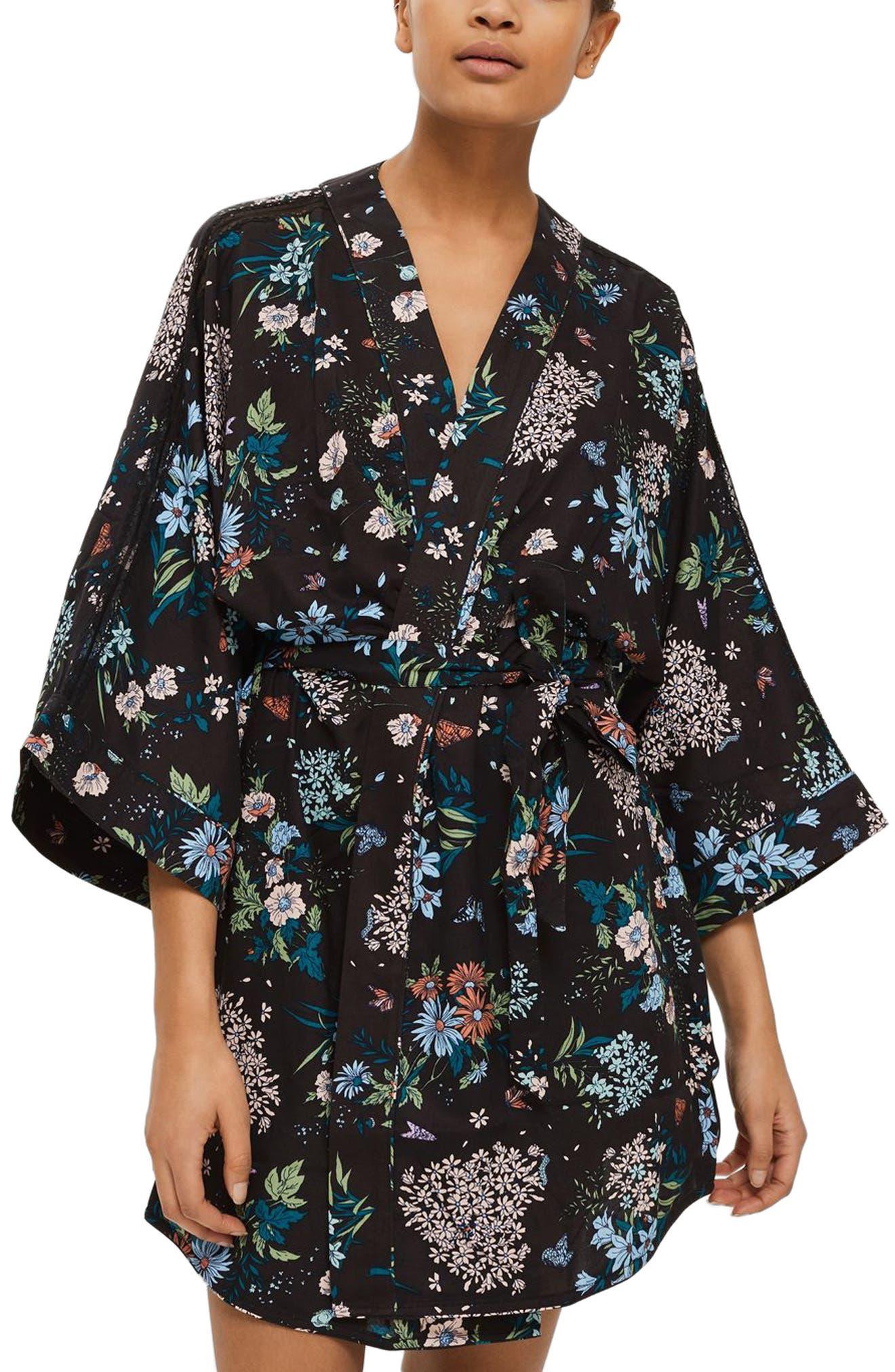Montana Short Robe,                         Main,                         color, Black