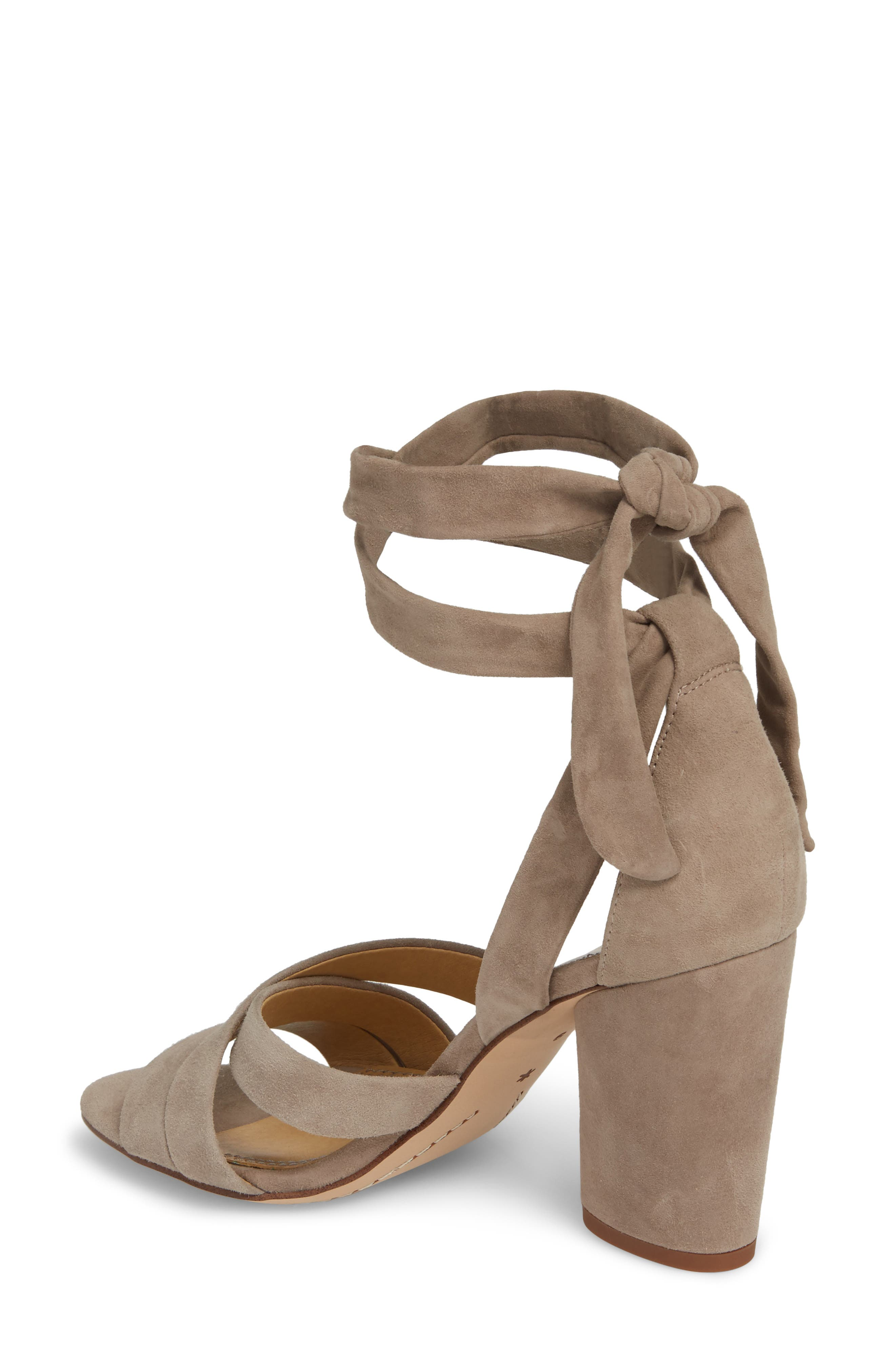 Fergie Lace-Up Sandal,                             Alternate thumbnail 2, color,                             Taupe Suede