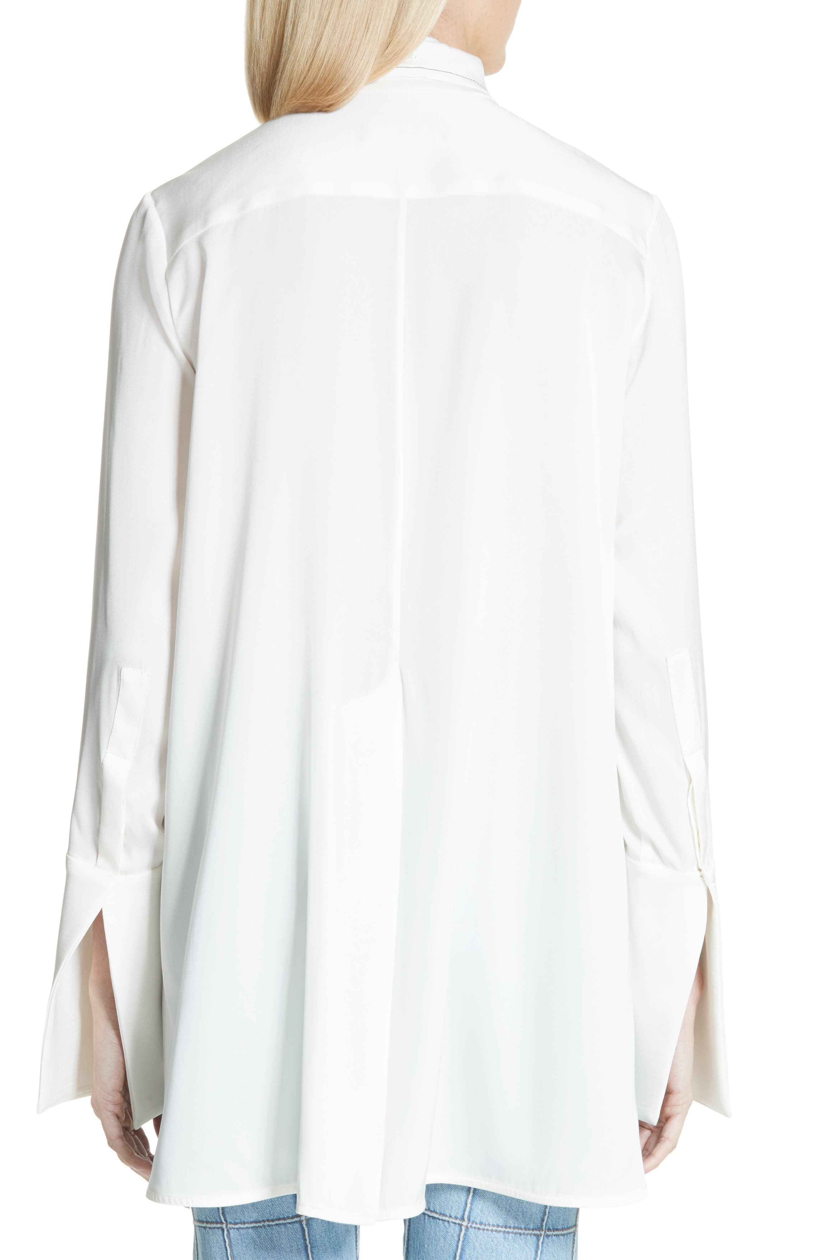 Ride Lonesome Tie Neck Blouse,                             Alternate thumbnail 2, color,                             Ivory