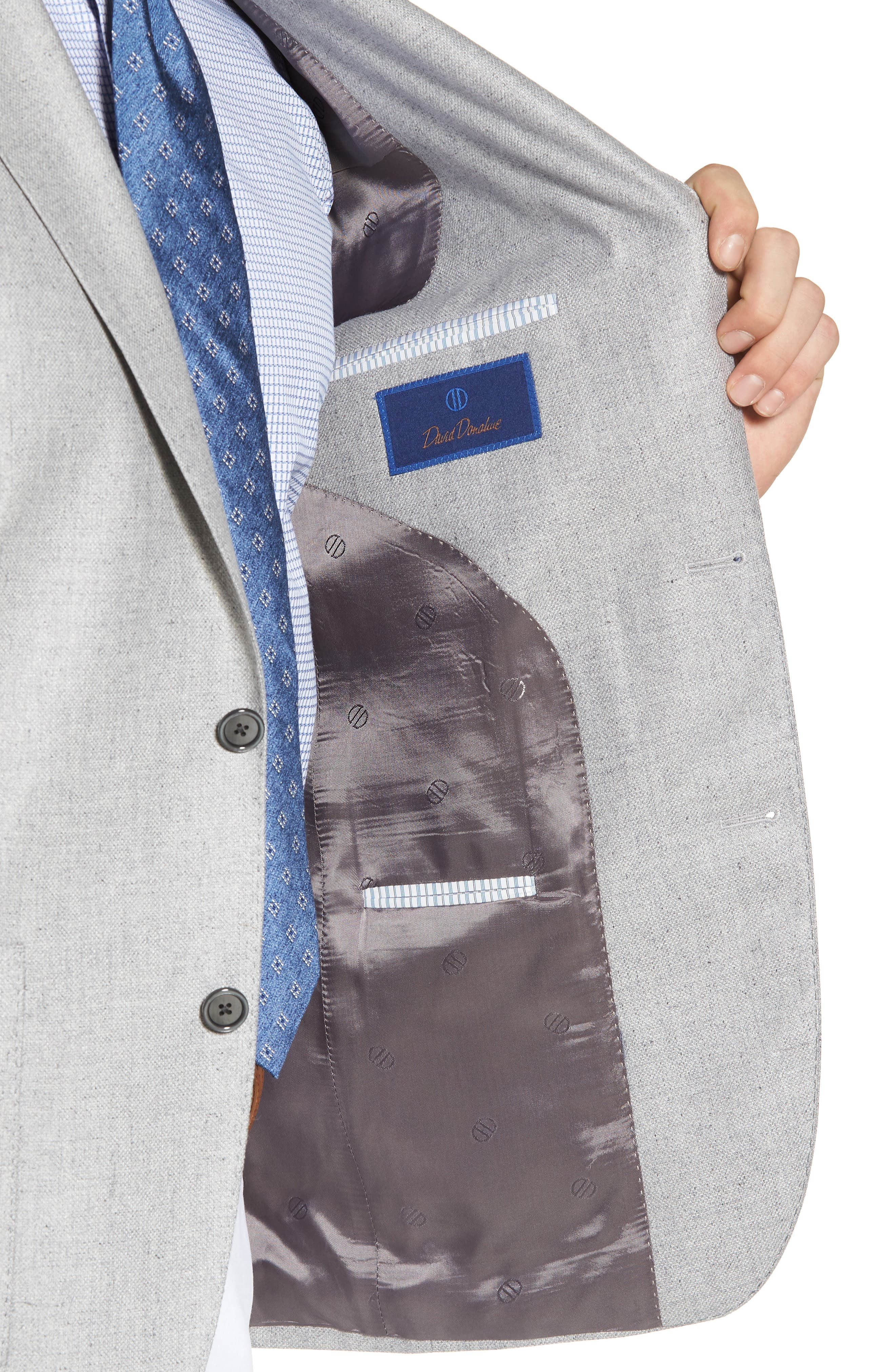 Arnold Classic Fit Wool & Silk Blazer,                             Alternate thumbnail 4, color,                             Light Grey