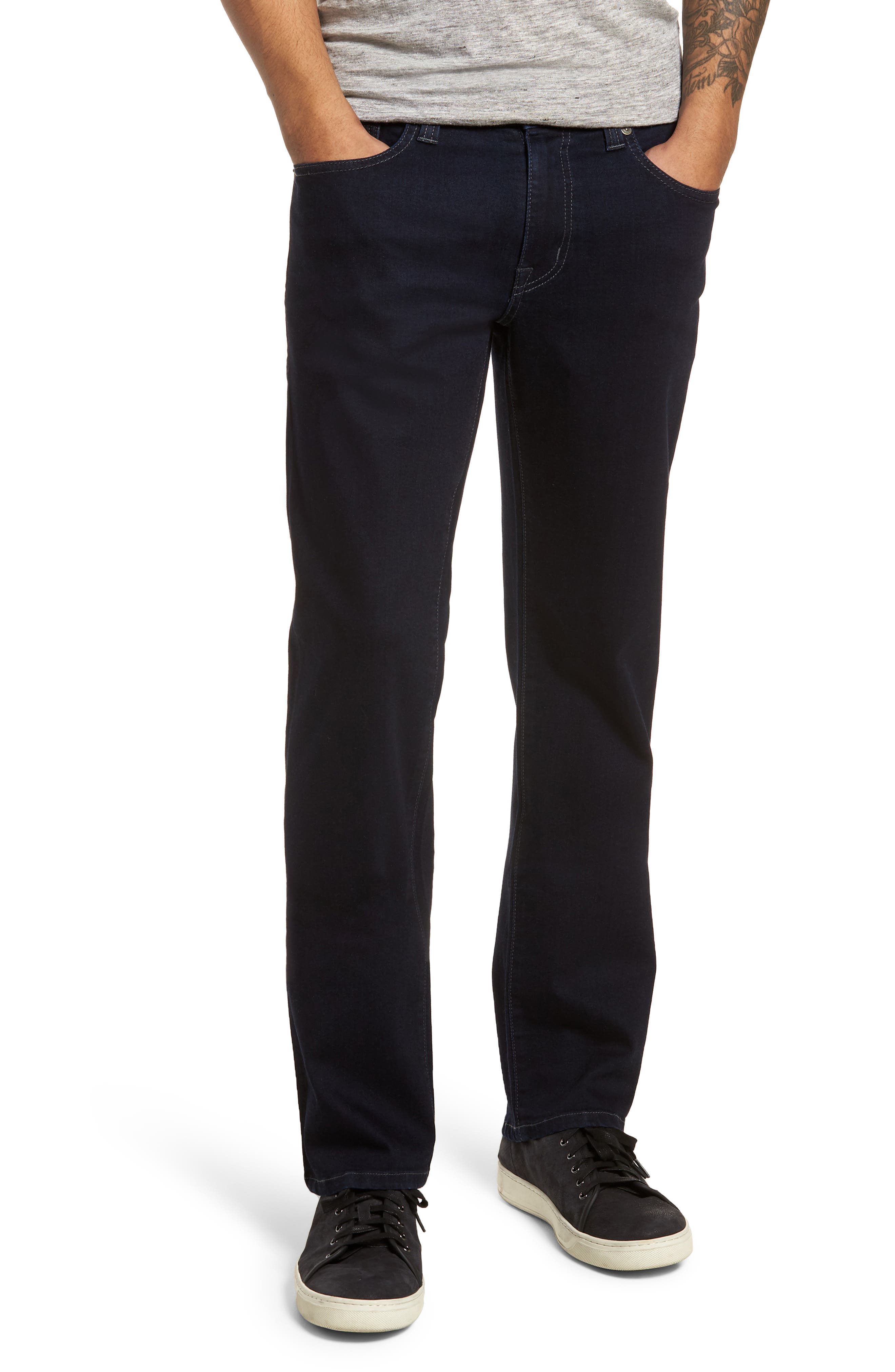 Jimmy Slim Straight Fit Jeans,                             Main thumbnail 1, color,                             Brooklyn Blue
