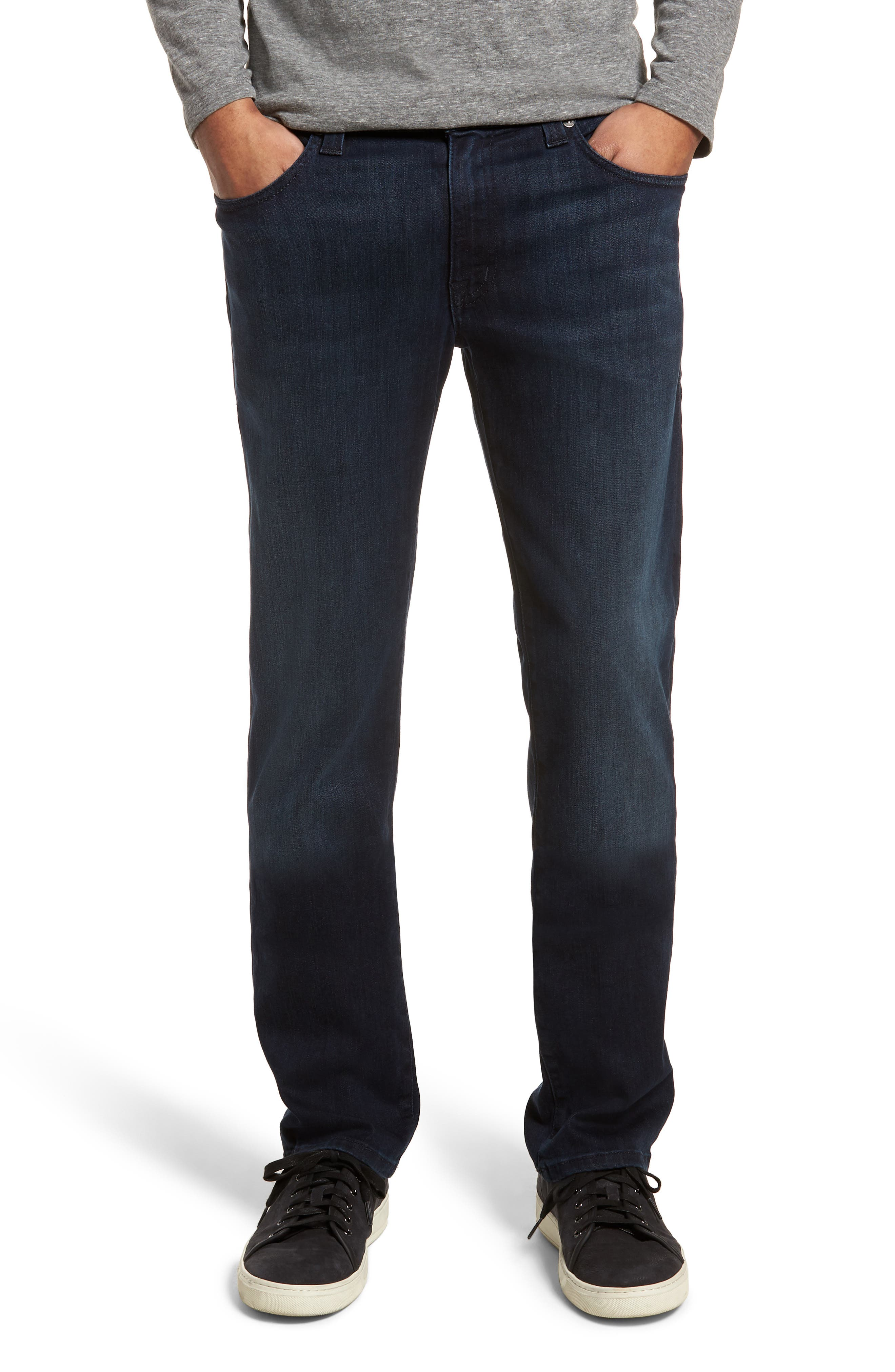 Jimmy Slim Straight Fit Jeans,                             Main thumbnail 1, color,                             Fade To Blue