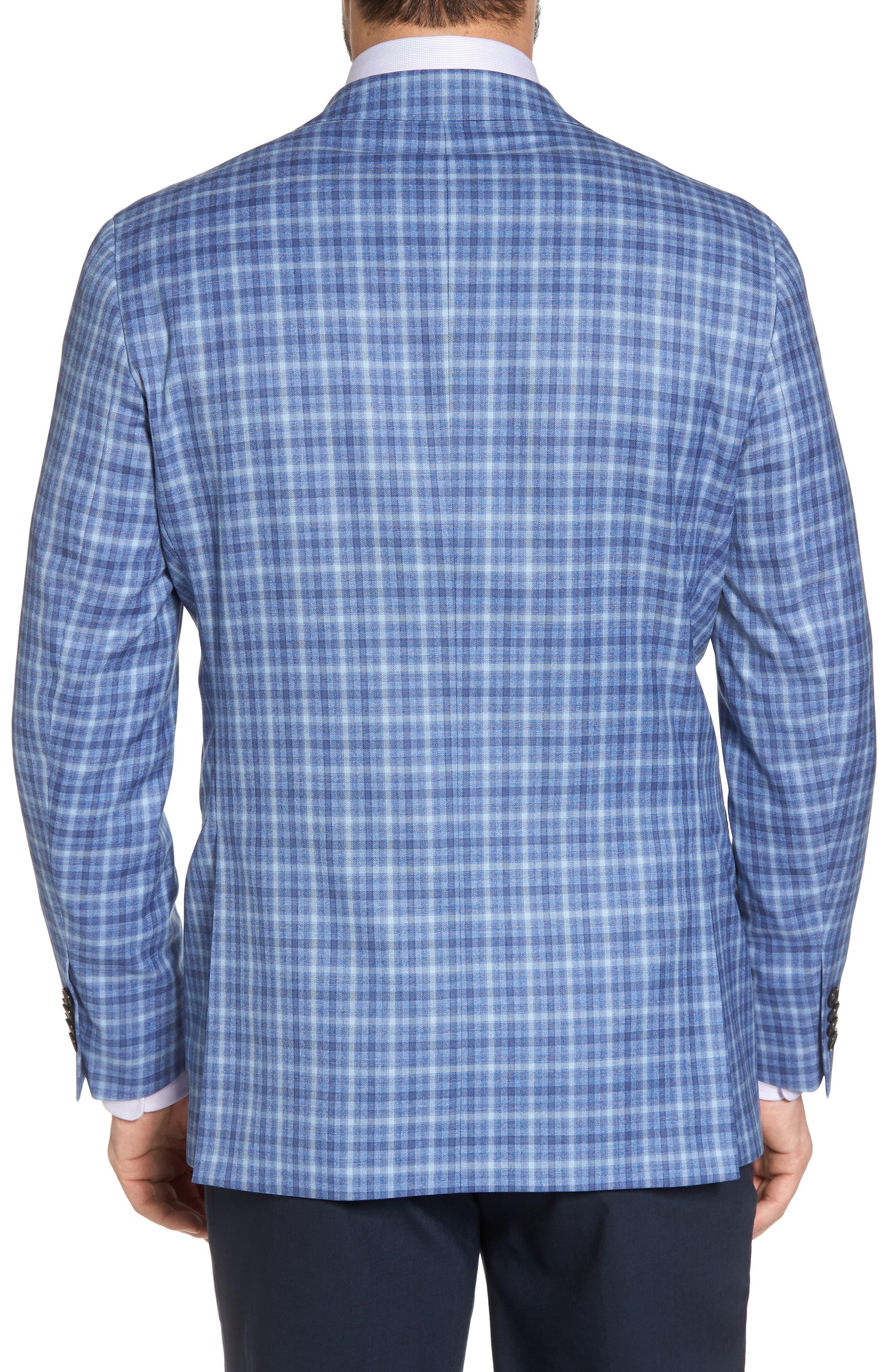 Arnold Classic Fit Plaid Wool Sport Coat,                             Alternate thumbnail 2, color,                             Blue