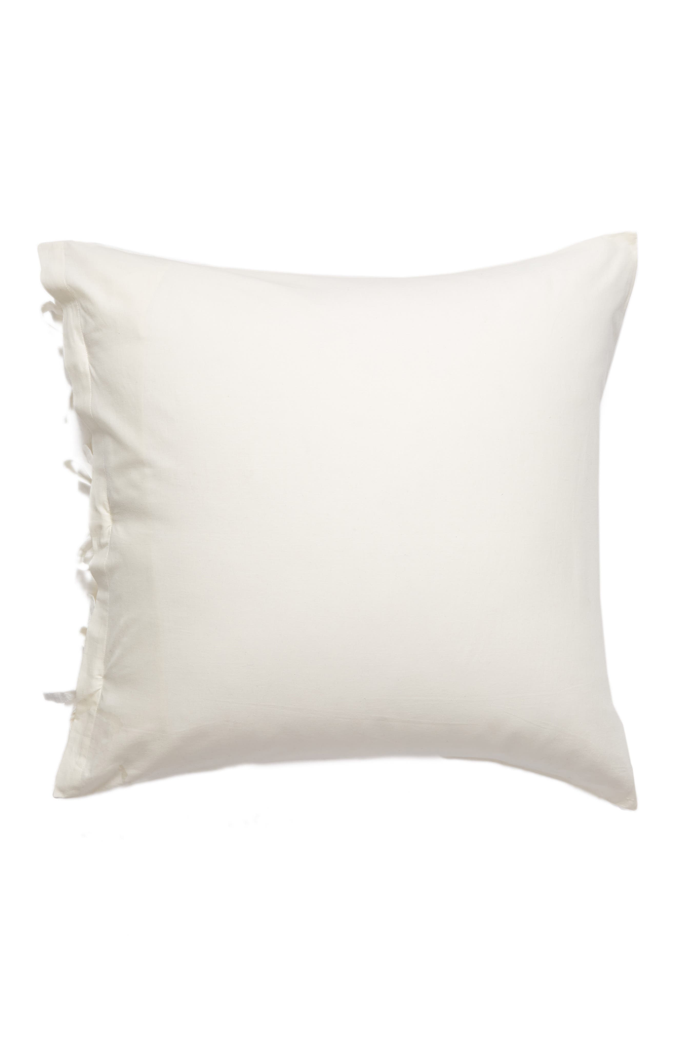 Relaxed Cotton & Linen Euro Sham,                             Alternate thumbnail 2, color,                             Ivory