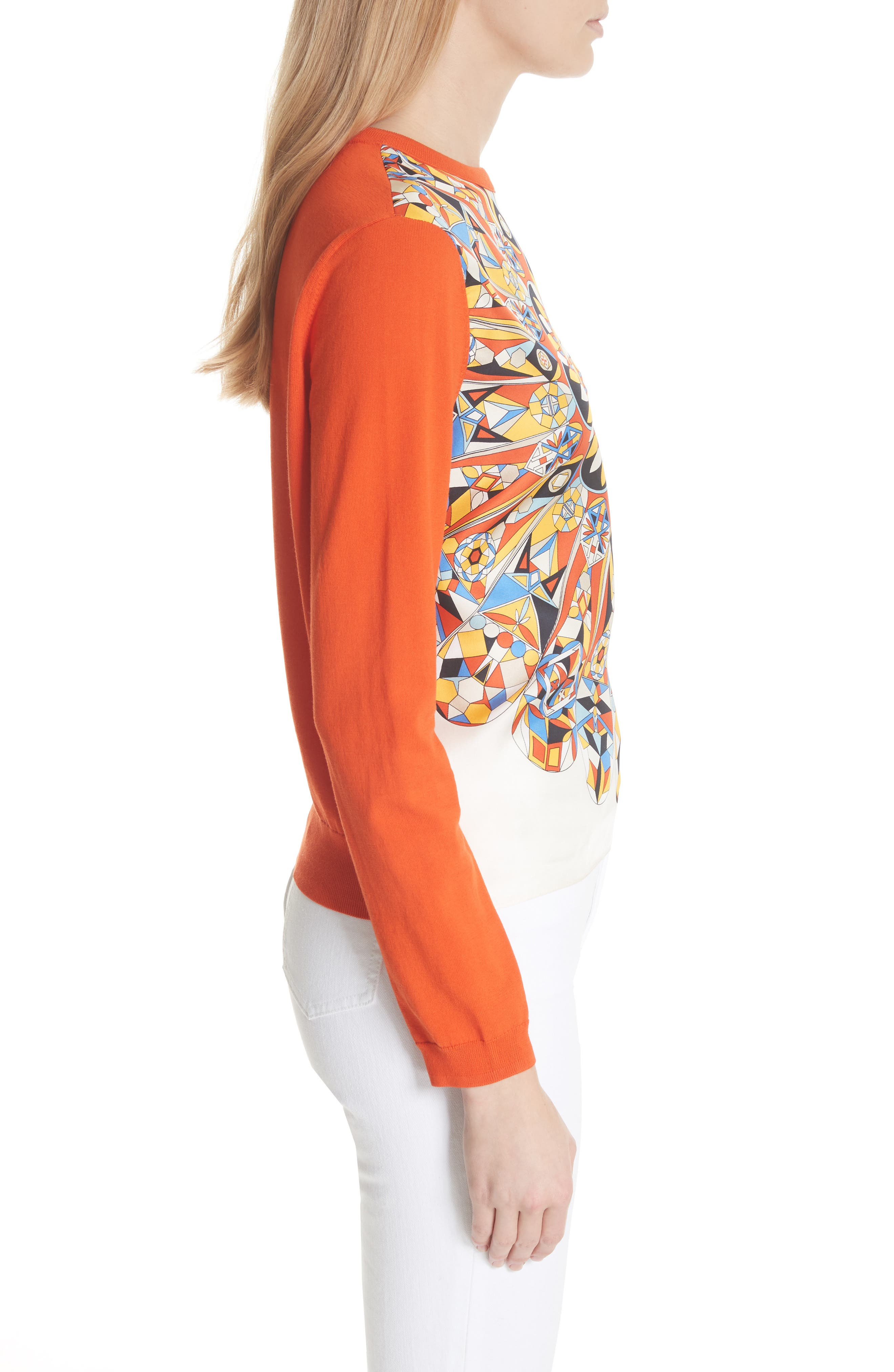 Alyssa Sweater,                             Alternate thumbnail 3, color,                             Sweet Tangerine