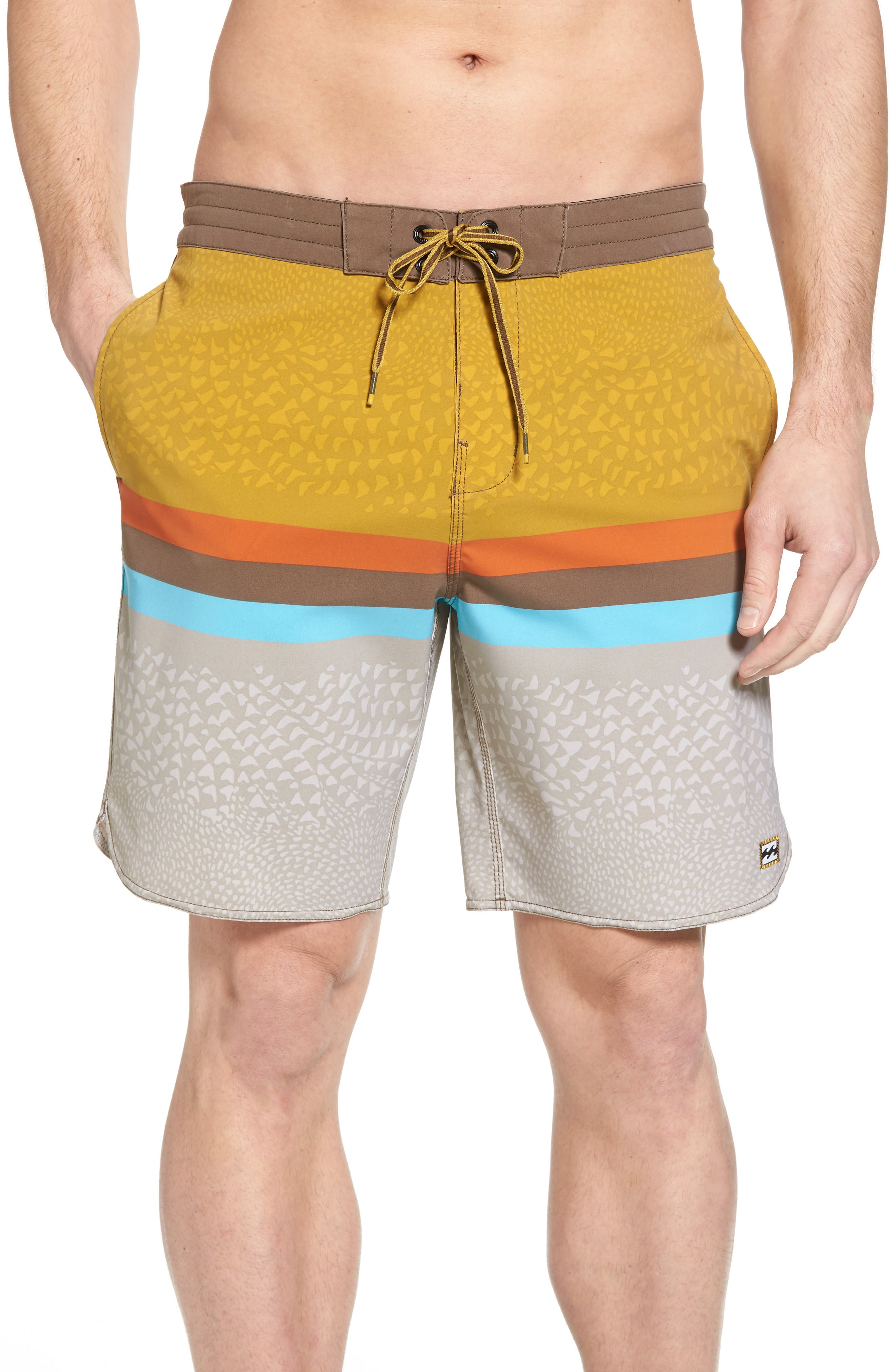 Fifty50 Low Tide Swim Trunks,                             Main thumbnail 1, color,                             Stone