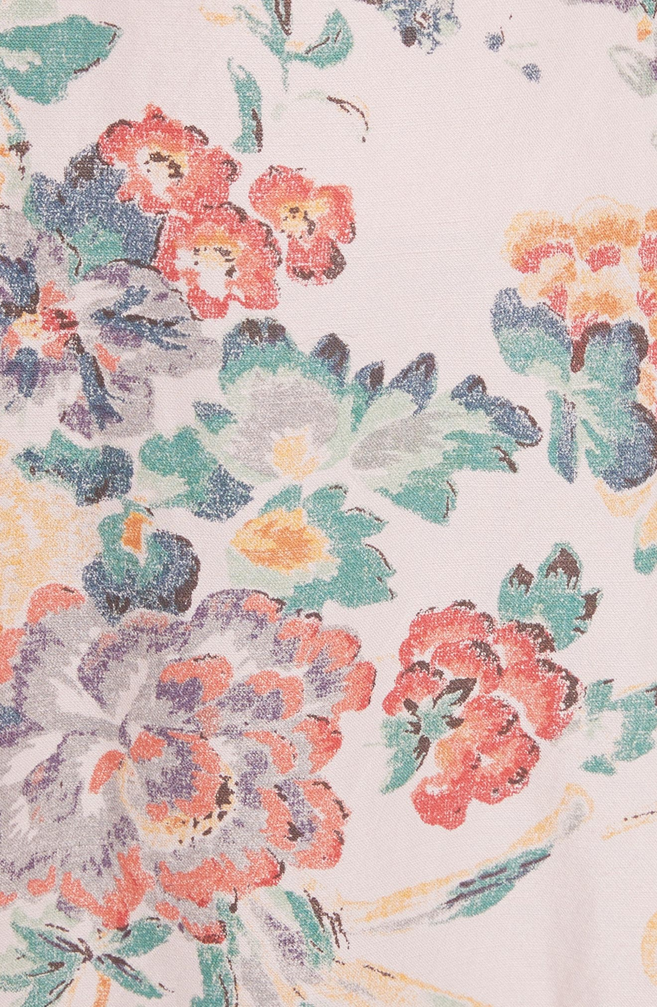 Marlena Ruffled Floral Skirt,                             Alternate thumbnail 5, color,                             Dusty Rose Combo