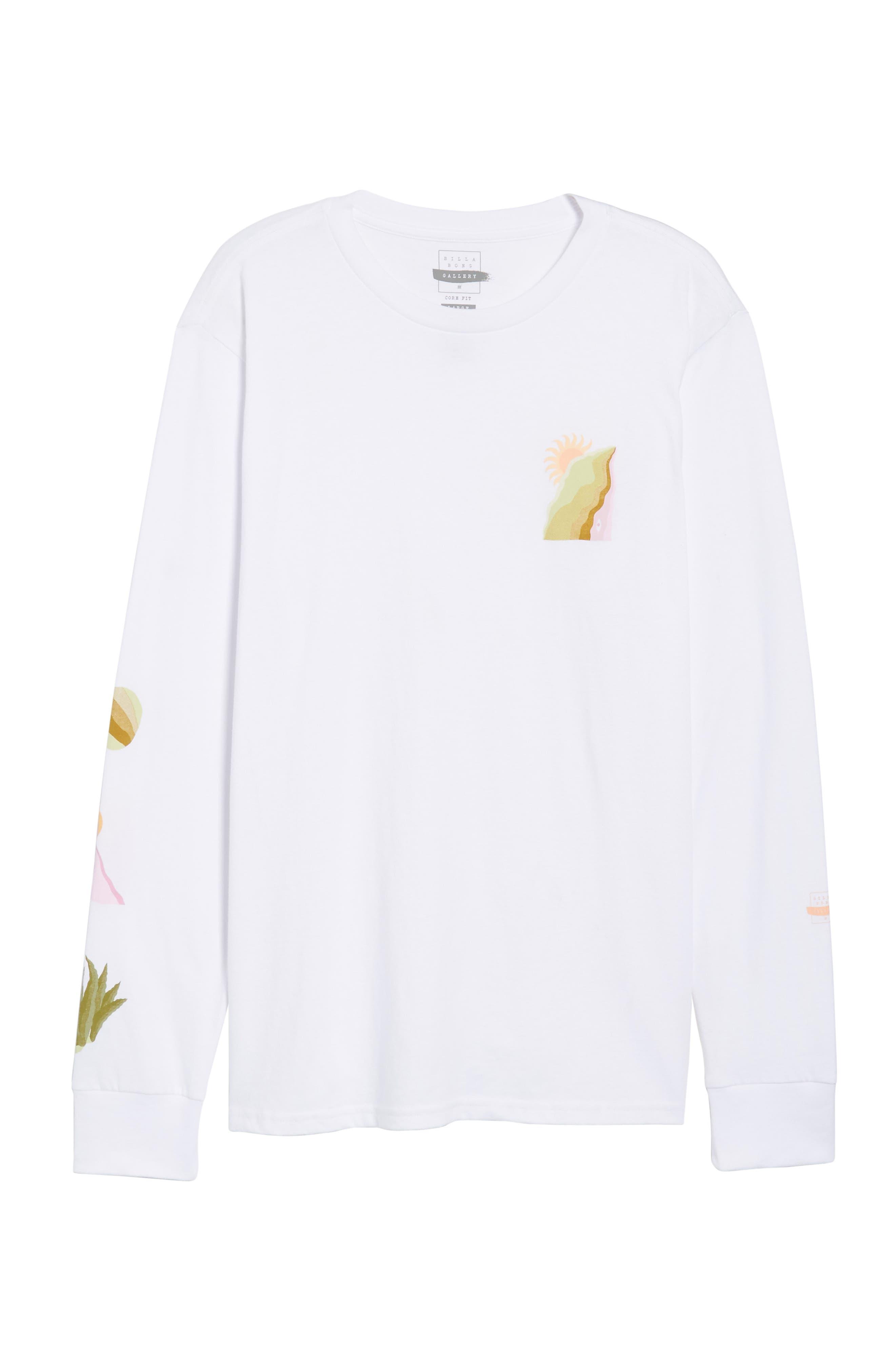 Wandering Eye Embroidered Long Sleeve T-Shirt,                             Alternate thumbnail 6, color,                             White
