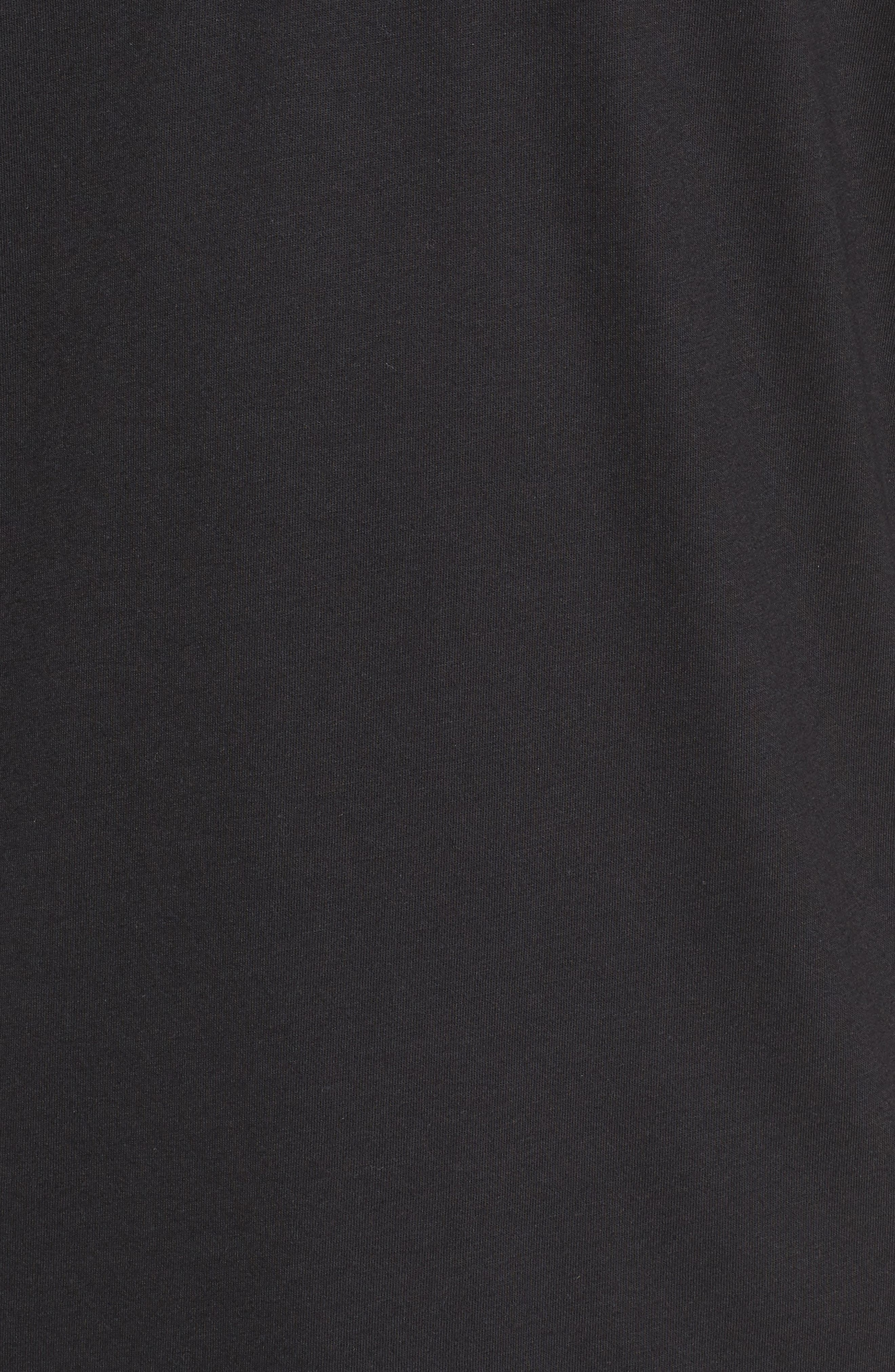 Double Layer T-Shirt,                             Alternate thumbnail 5, color,                             Black/ White