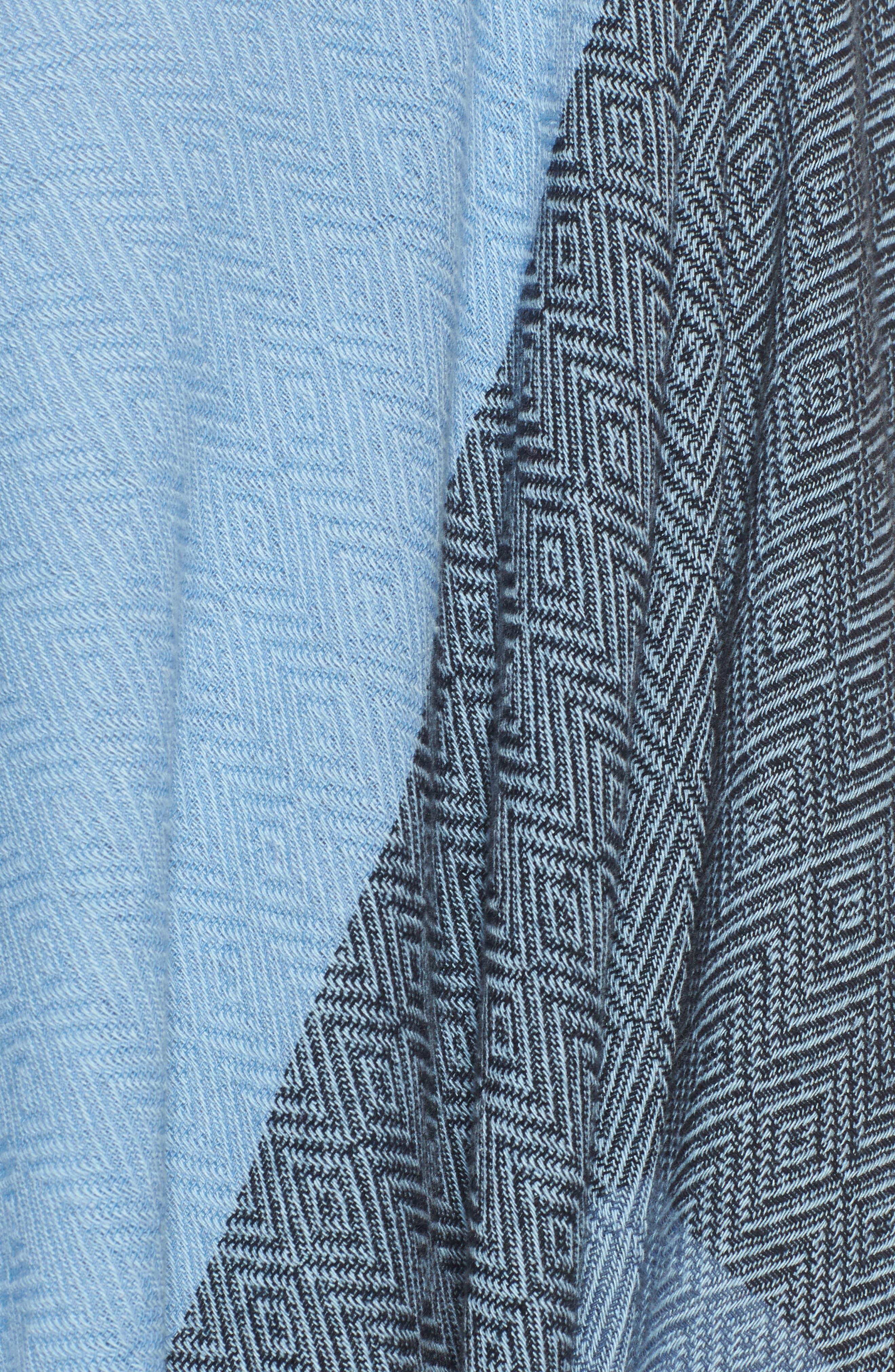 Recycled Cotton Poncho Wrap,                             Alternate thumbnail 5, color,                             Indigo