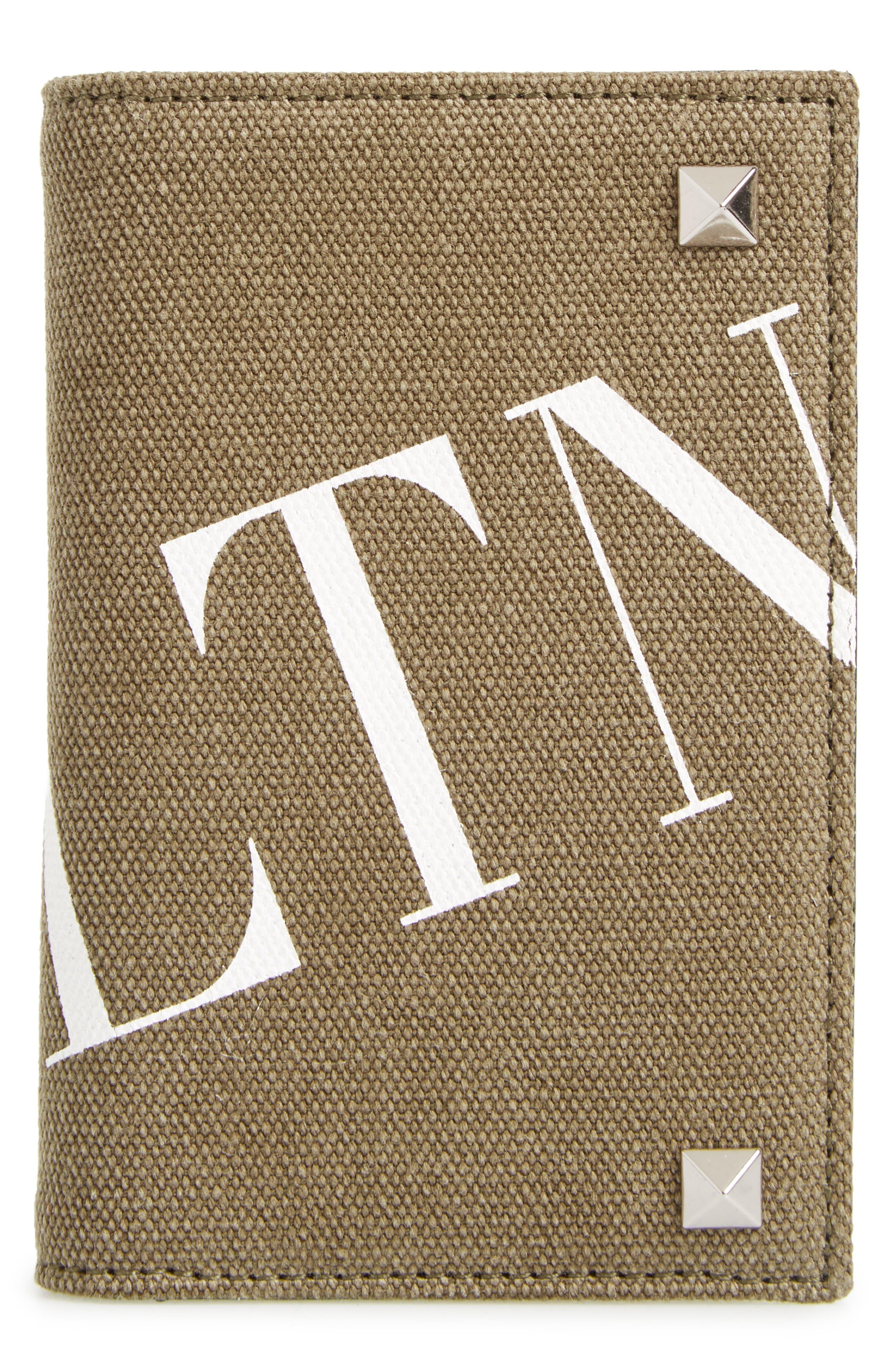Main Image - VALENTINO GARAVANI Stud Canvas Wallet