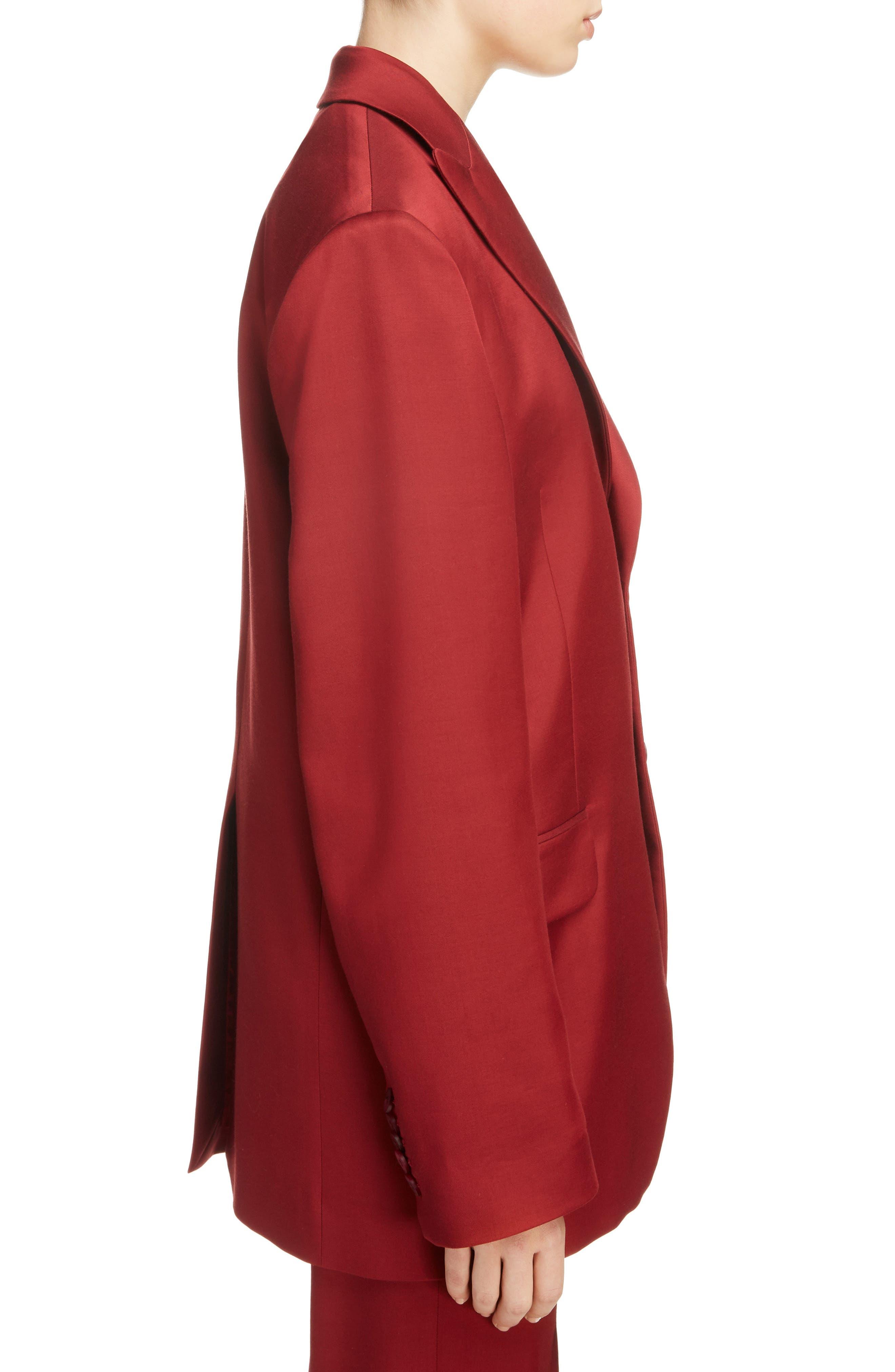 Jaria Suit Jacket,                             Alternate thumbnail 5, color,                             Crimson Red
