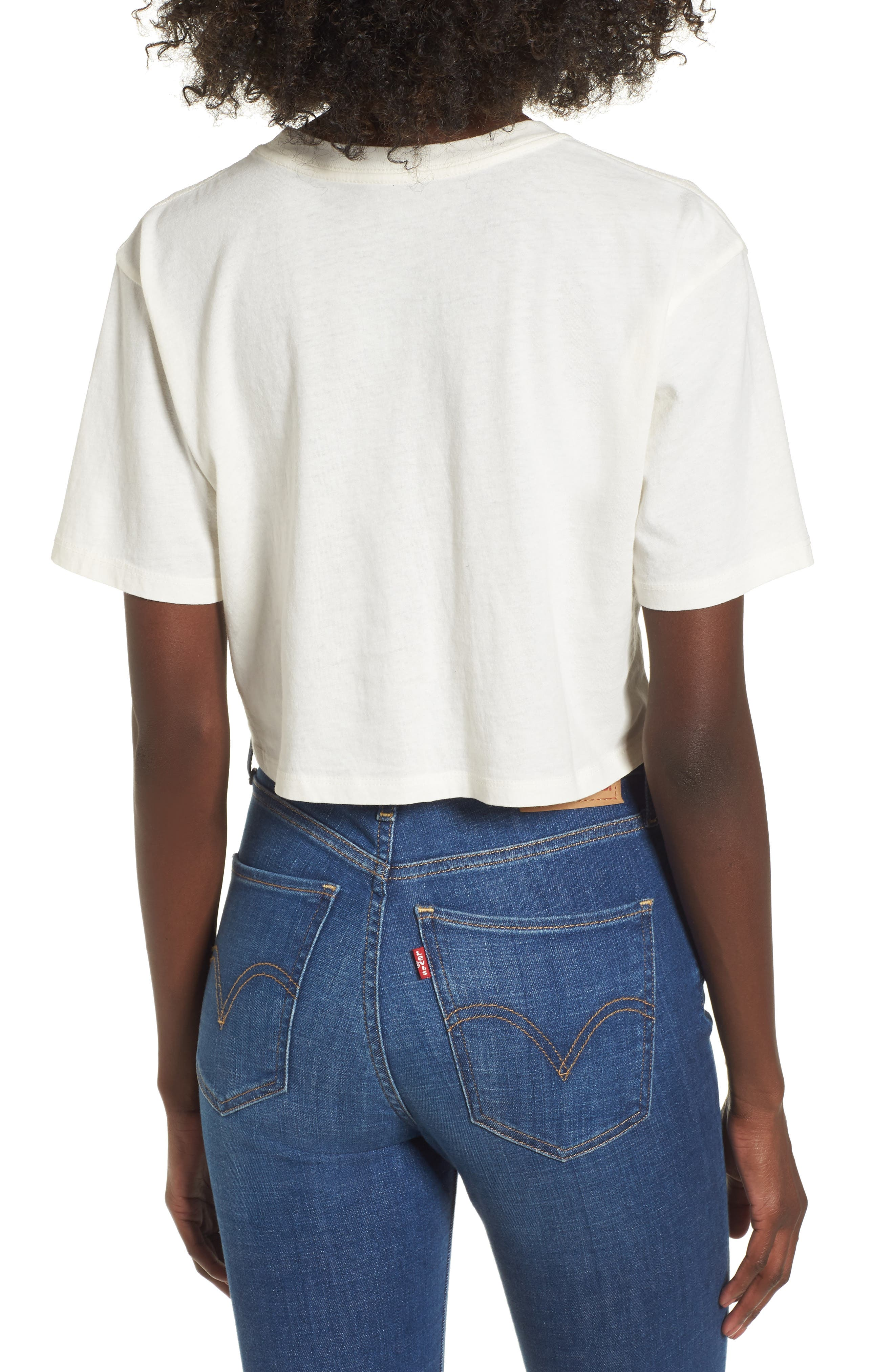 Nice Try Crop Tee,                             Alternate thumbnail 2, color,                             Washed Ivory