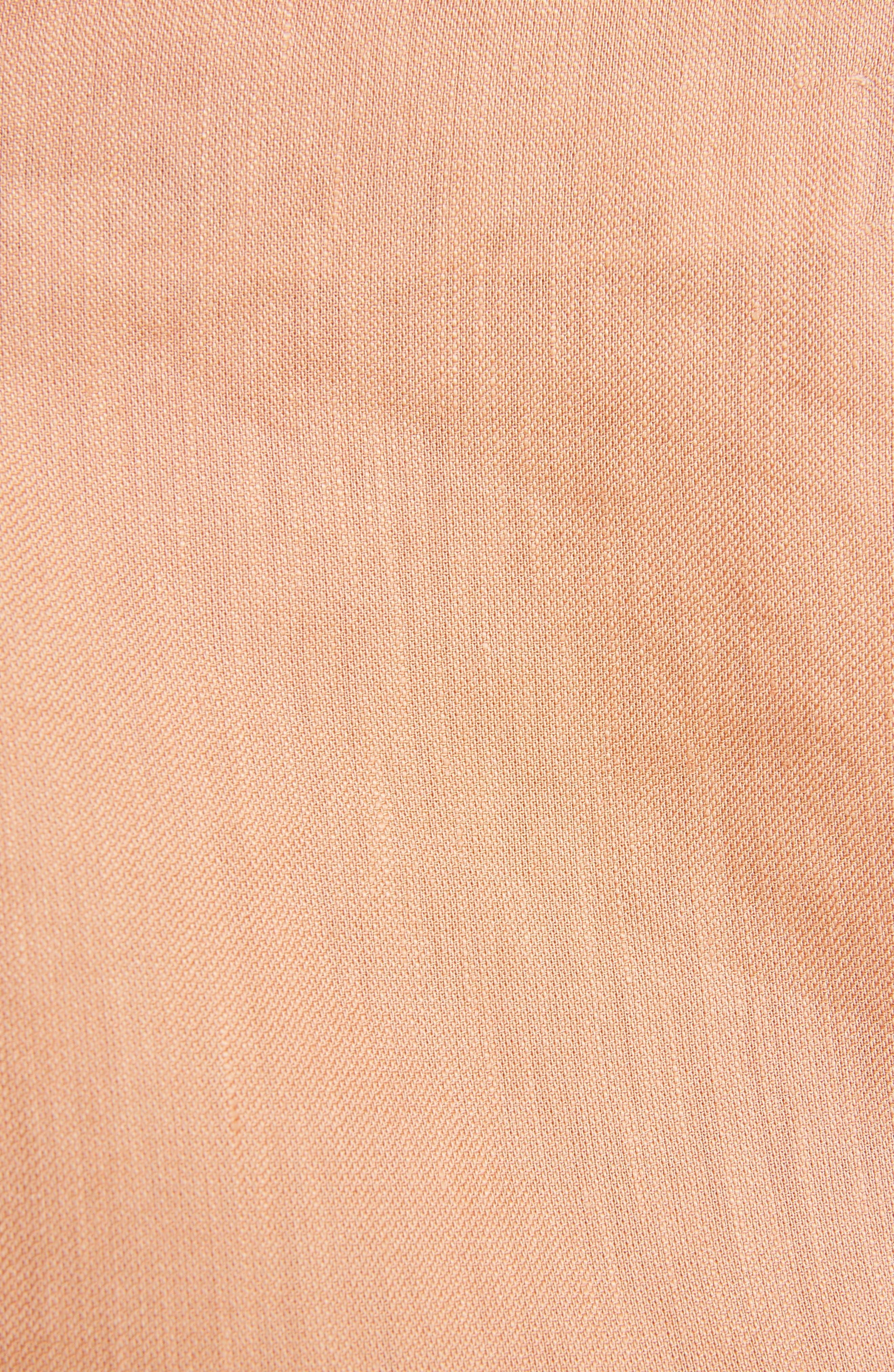 Alternate Image 5  - Jacquemus la Chemise Pleated Cuff Linen Blend Blouse