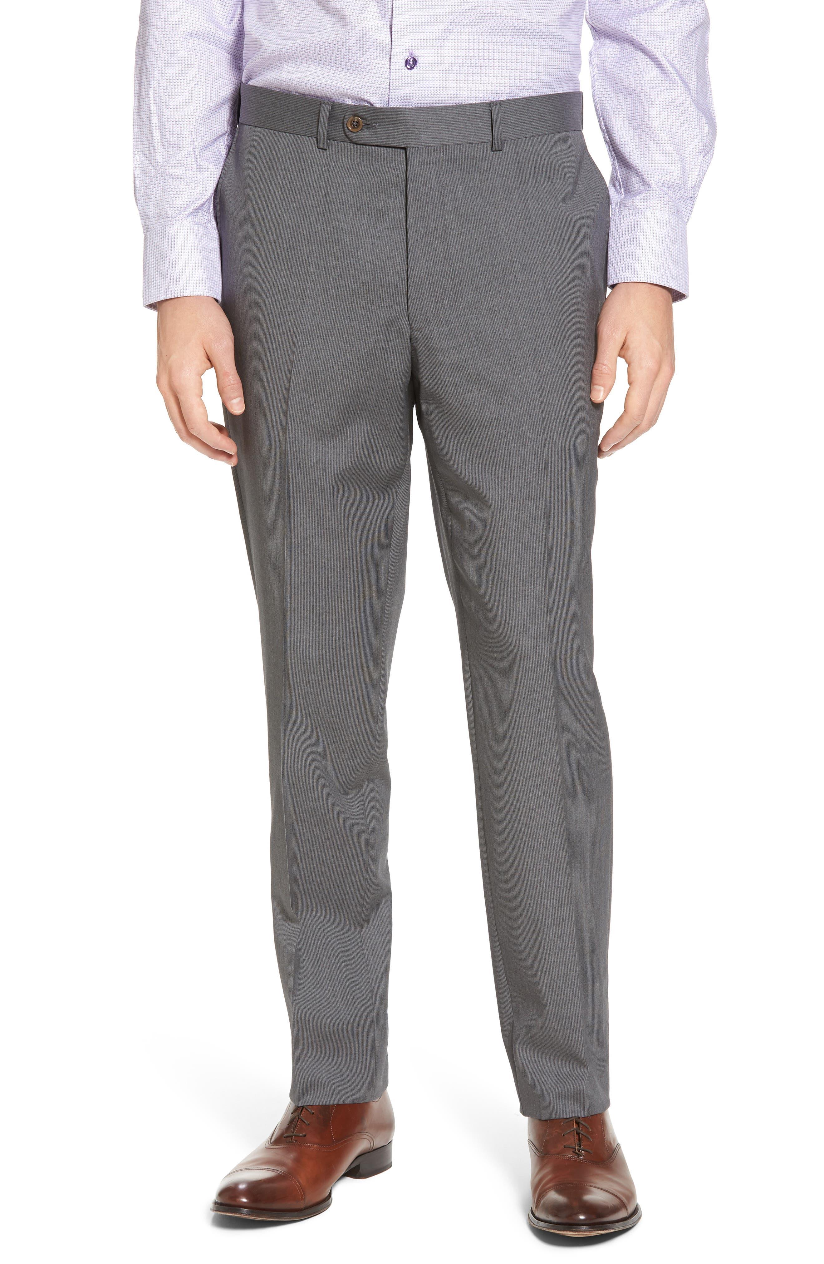 Alternate Image 4  - David Donahue Ryan Classic Fit Stripe Wool Suit
