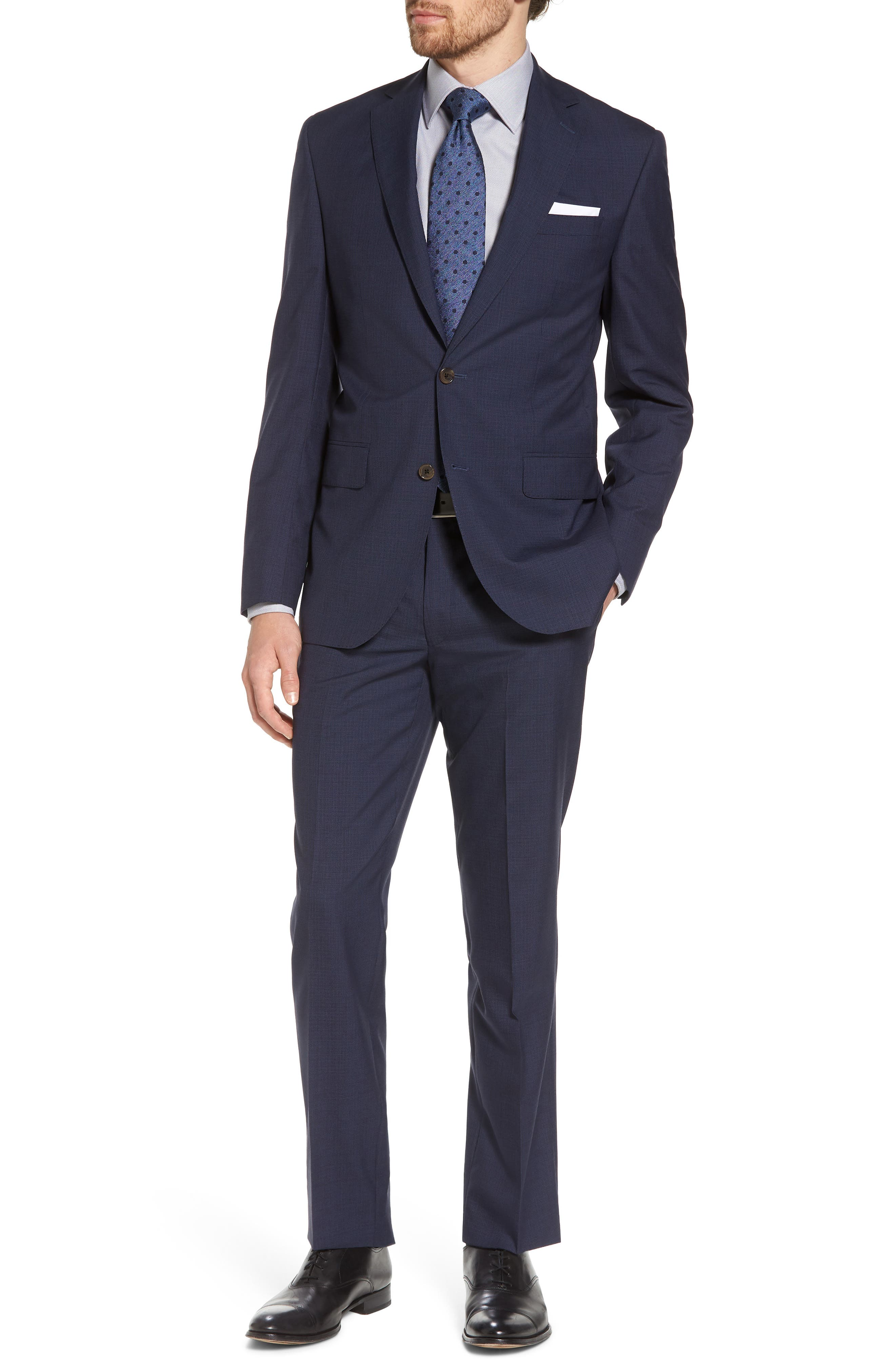 Ryan Classic Fit Houndstooth Wool Suit,                         Main,                         color, Navy