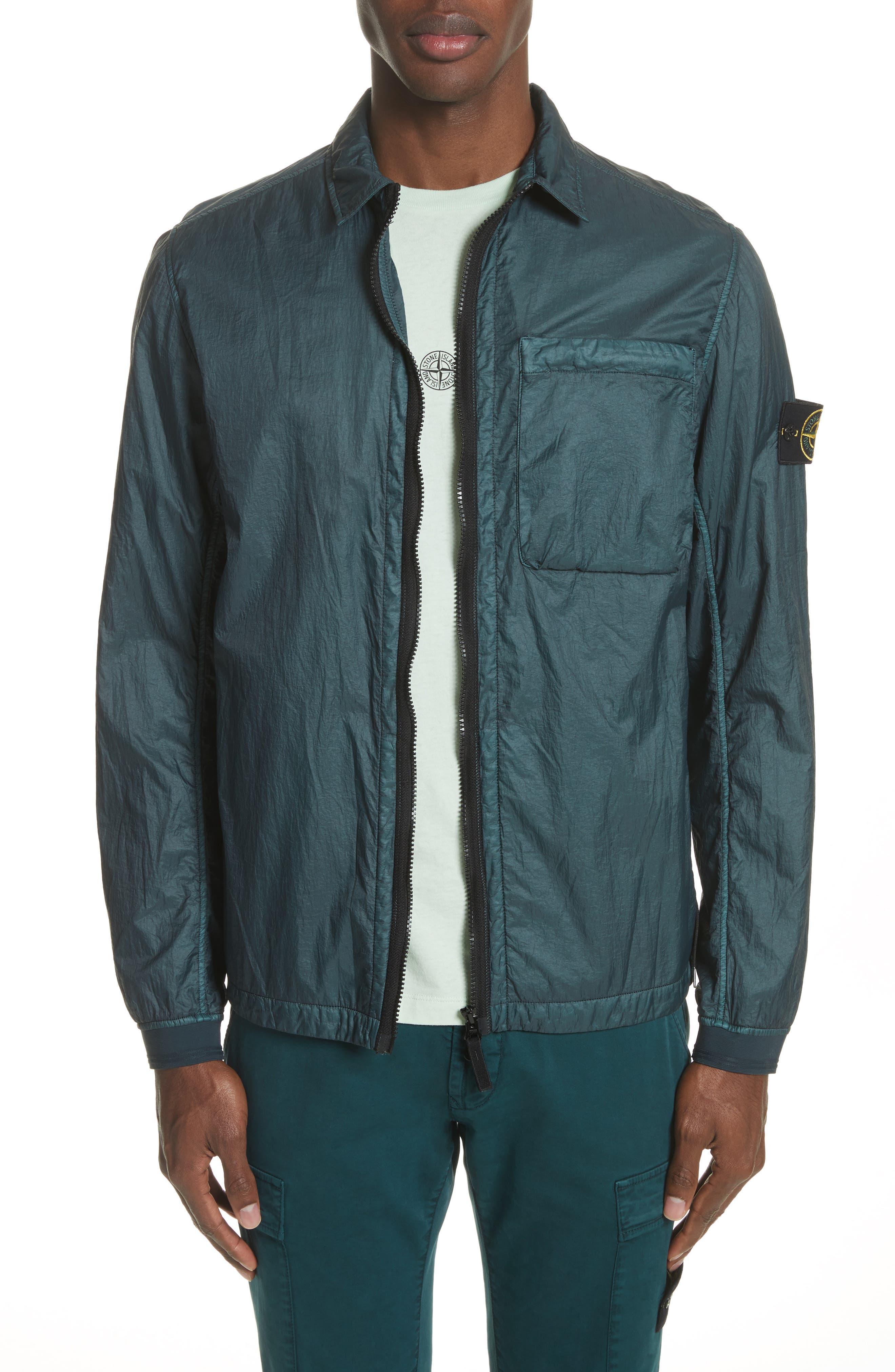Nylon Jacket,                         Main,                         color, Blue
