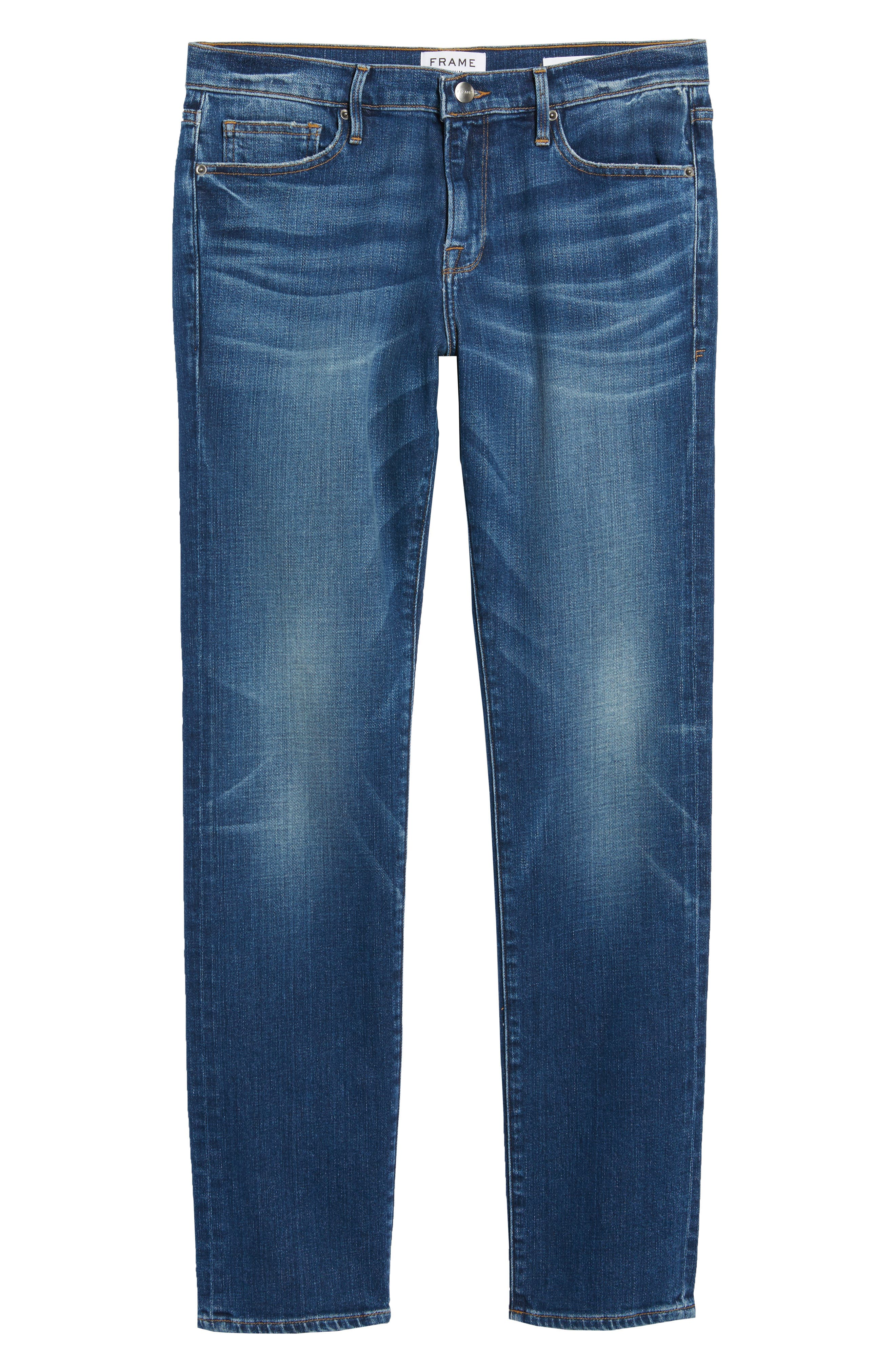 L'Homme Skinny Fit Jeans,                             Alternate thumbnail 6, color,                             Francis