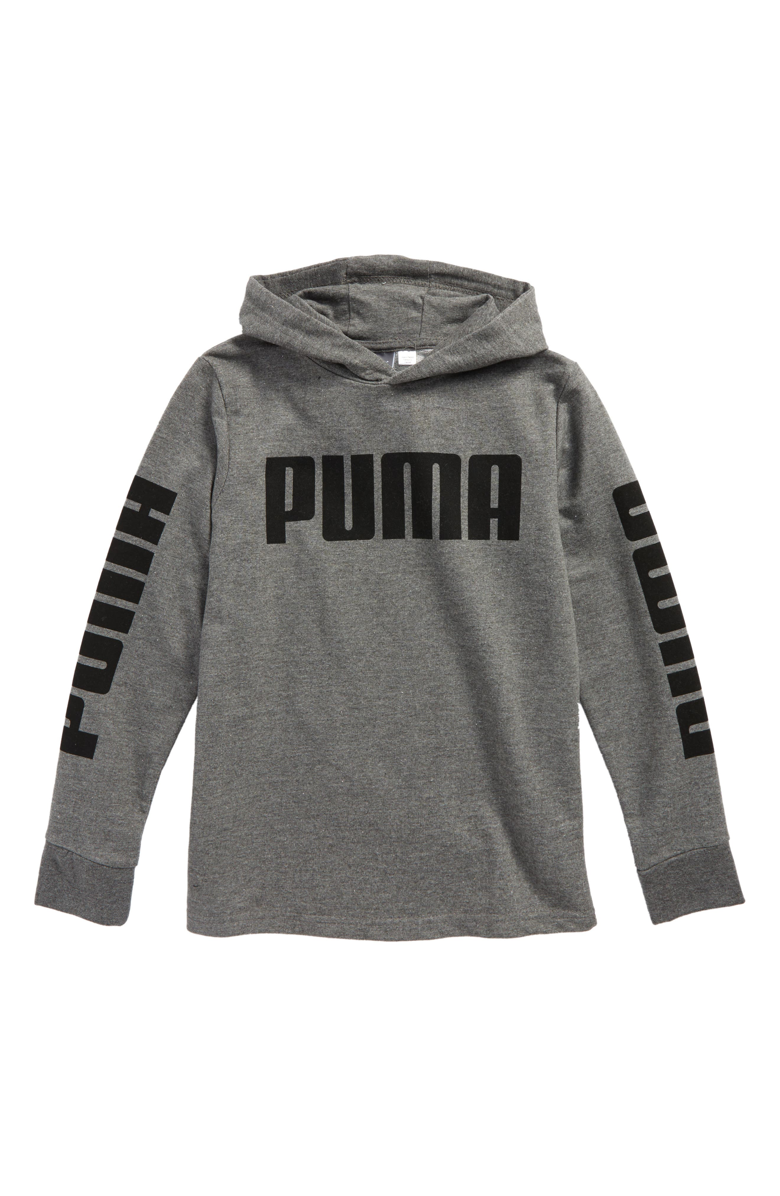 PUMA Rebel Logo Graphic Pullover Hoodie (Big Boys)