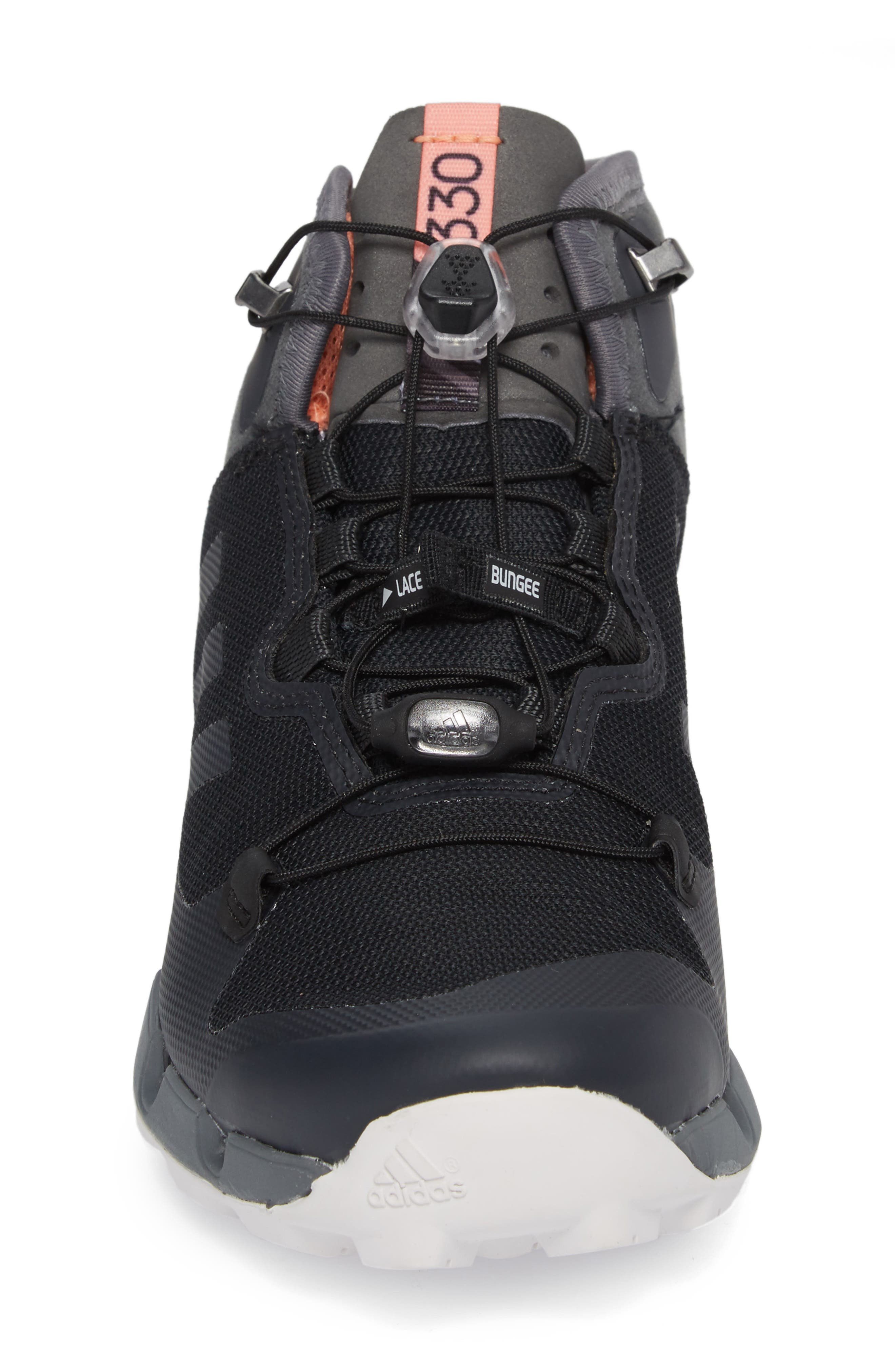 Terrex Fast Mid Gore-Tex<sup>®</sup> Hiking Boot,                             Alternate thumbnail 4, color,                             Black/ Grey Five/ Chalk Coral