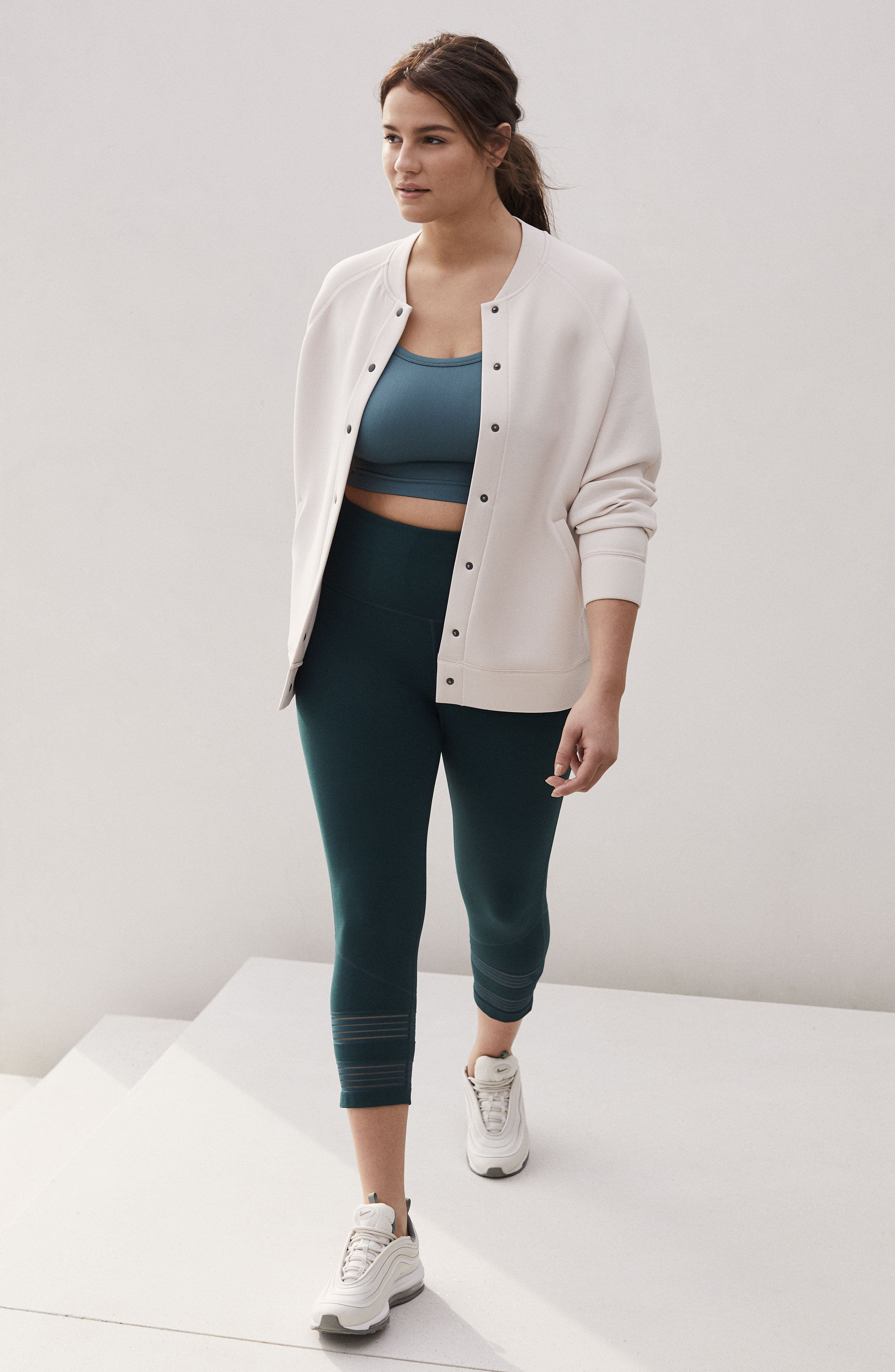 Arise Luxe Bomber Jacket,                             Alternate thumbnail 7, color,