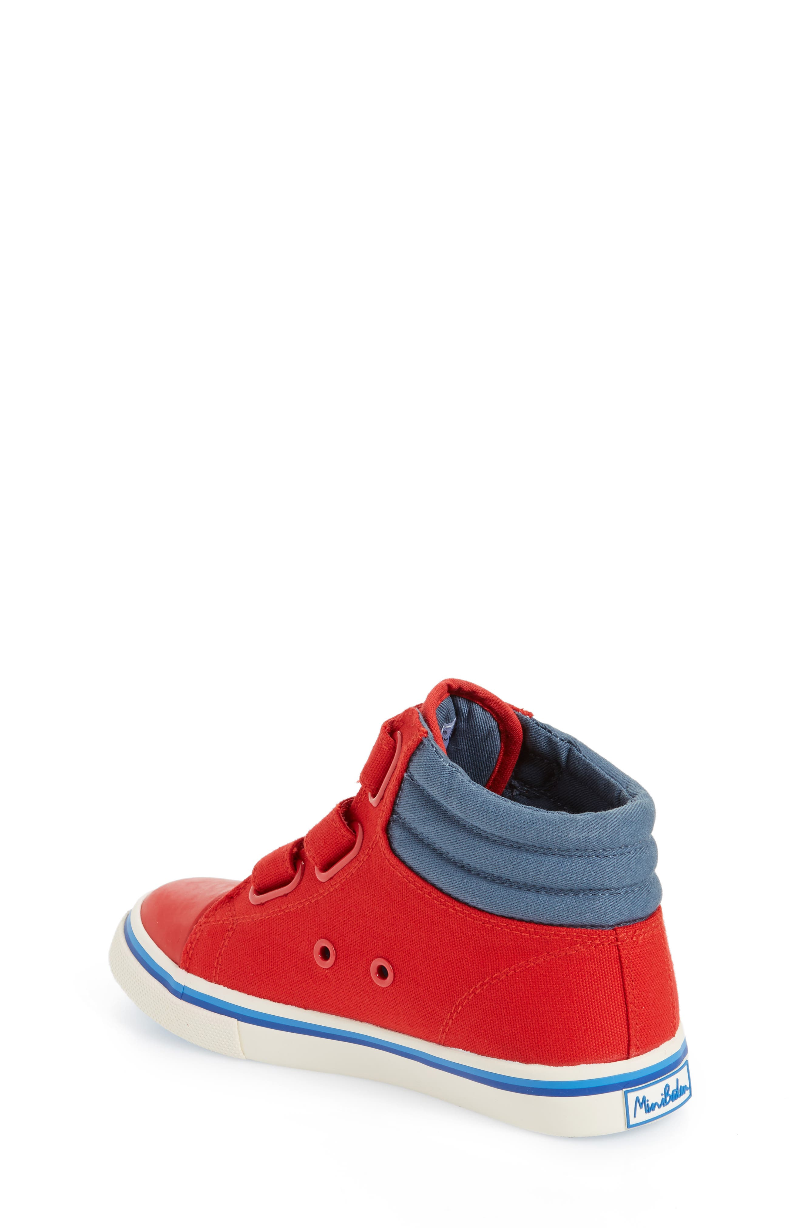 High Top Sneaker,                             Alternate thumbnail 2, color,                             Salsa Red