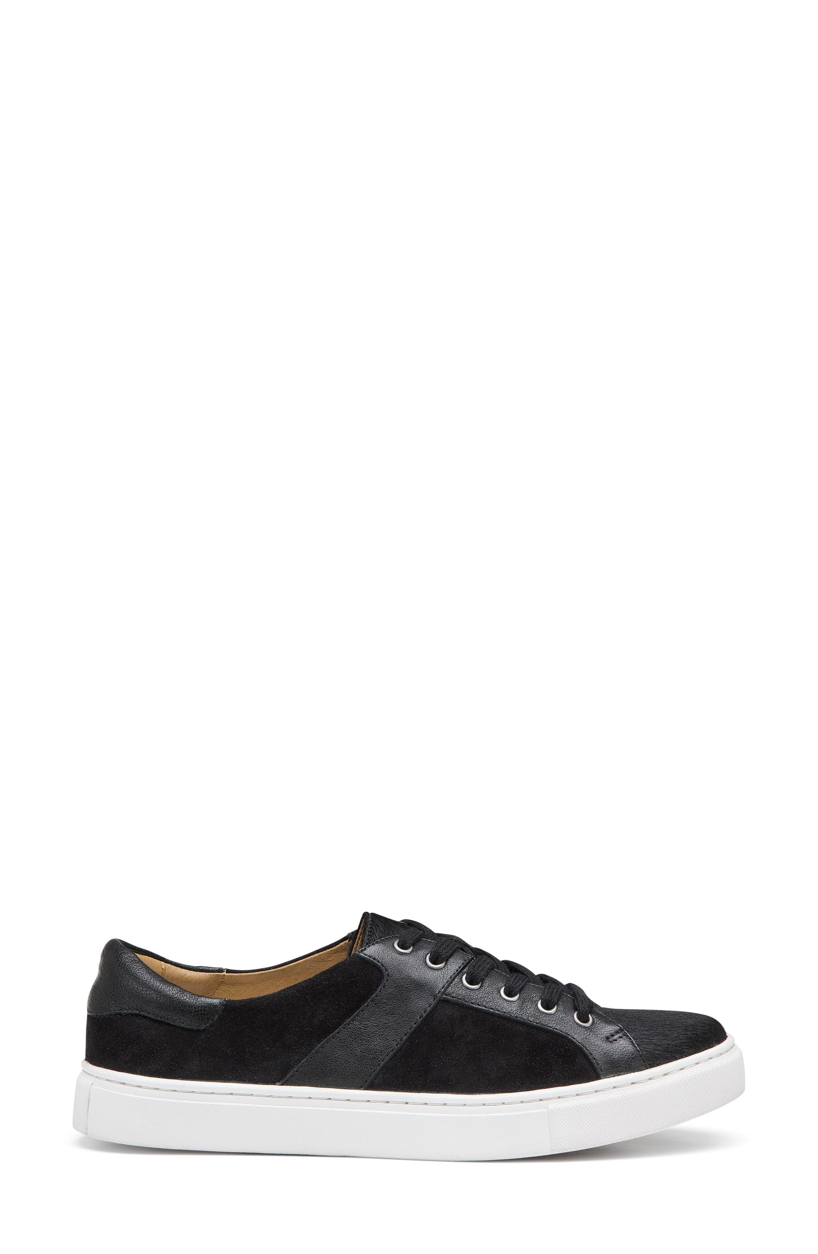 Lindsey Genuine Calf Hair Sneaker,                             Alternate thumbnail 3, color,                             Black Calfhair