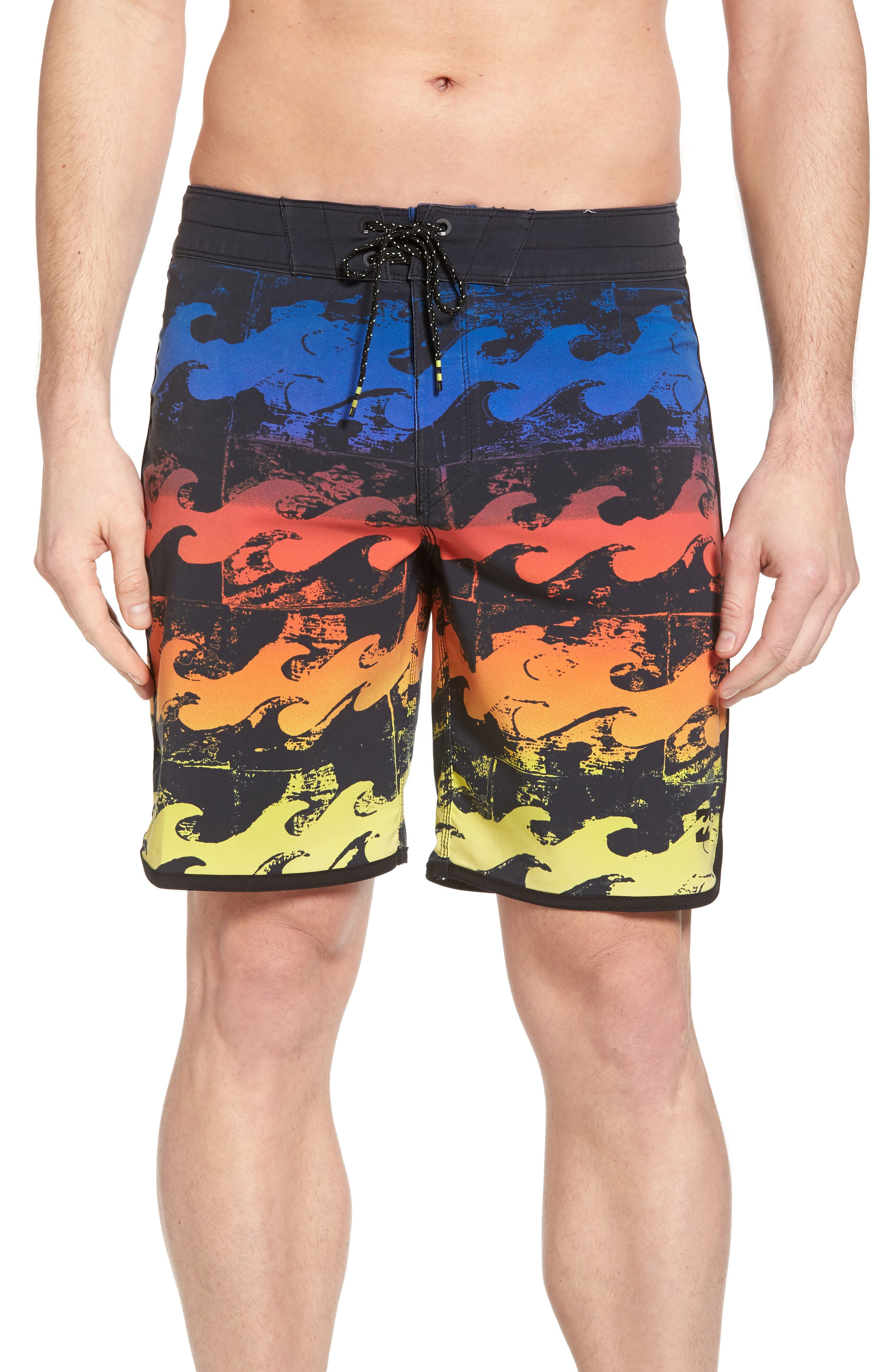 73 X Lineup Board Shorts,                             Main thumbnail 1, color,                             Neon