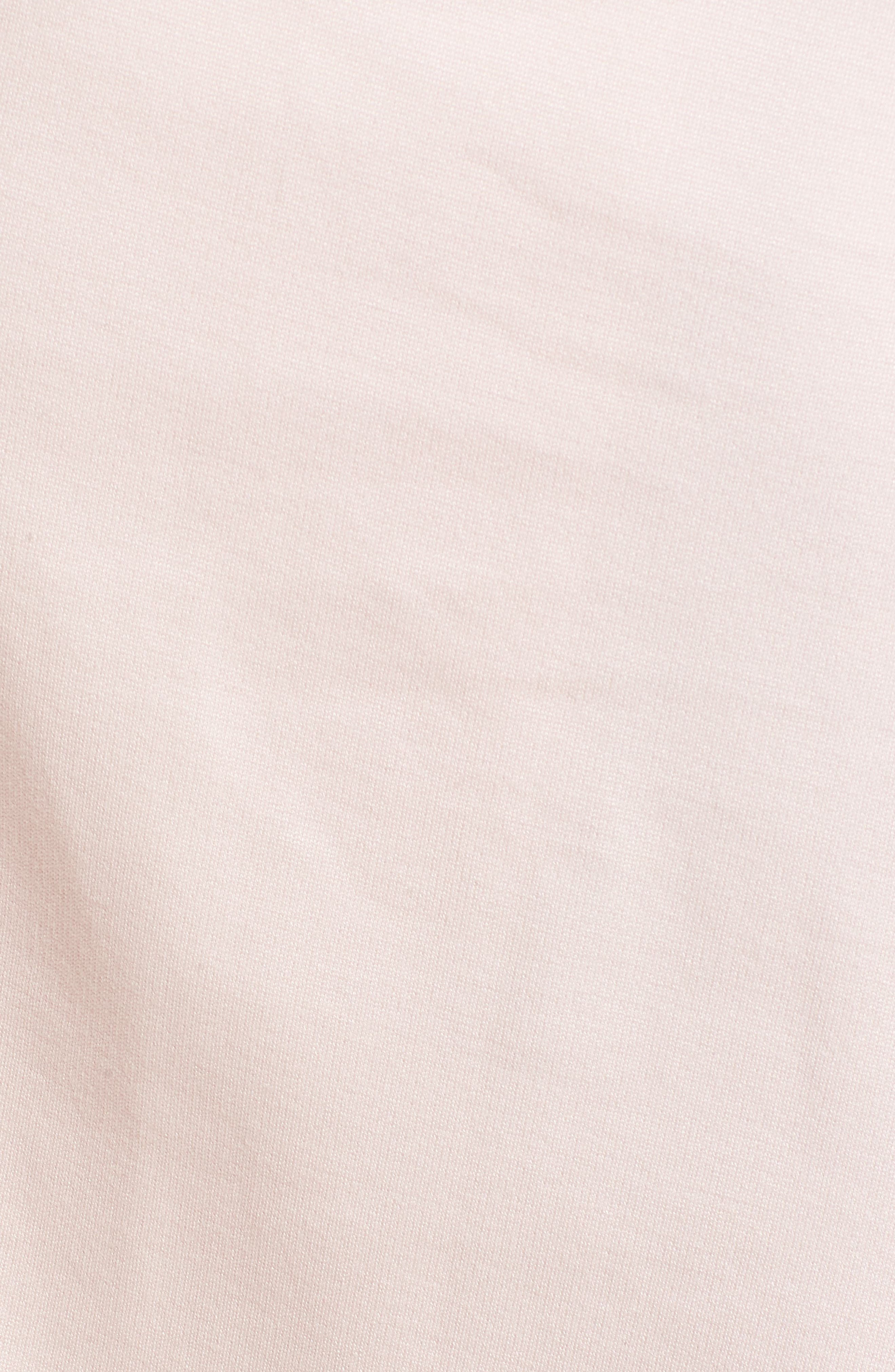 Reese Ponte Maternity Dress,                             Alternate thumbnail 5, color,                             Soft Blush
