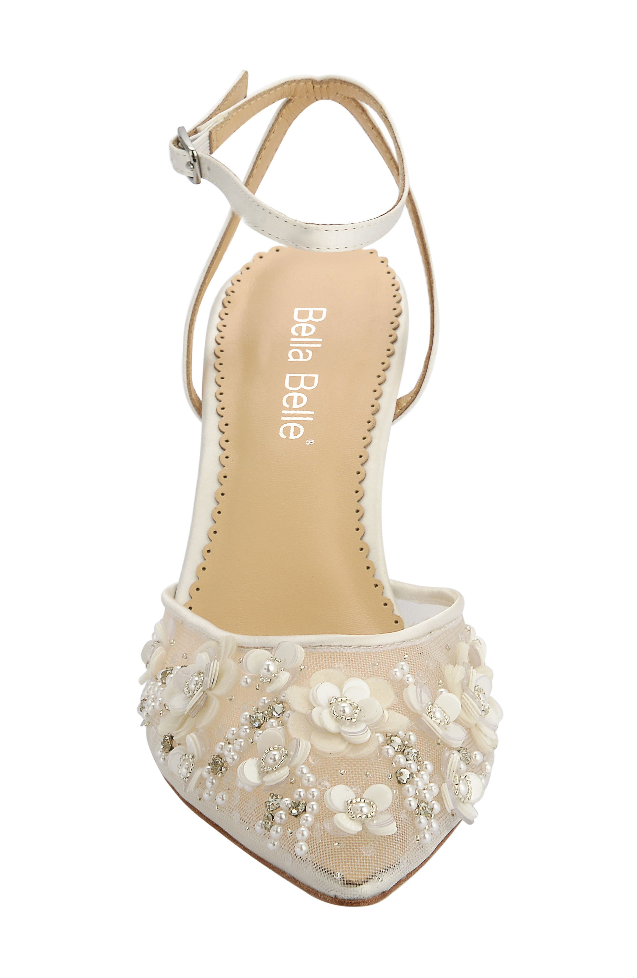 Rosa Pump,                             Alternate thumbnail 4, color,                             Ivory Silk