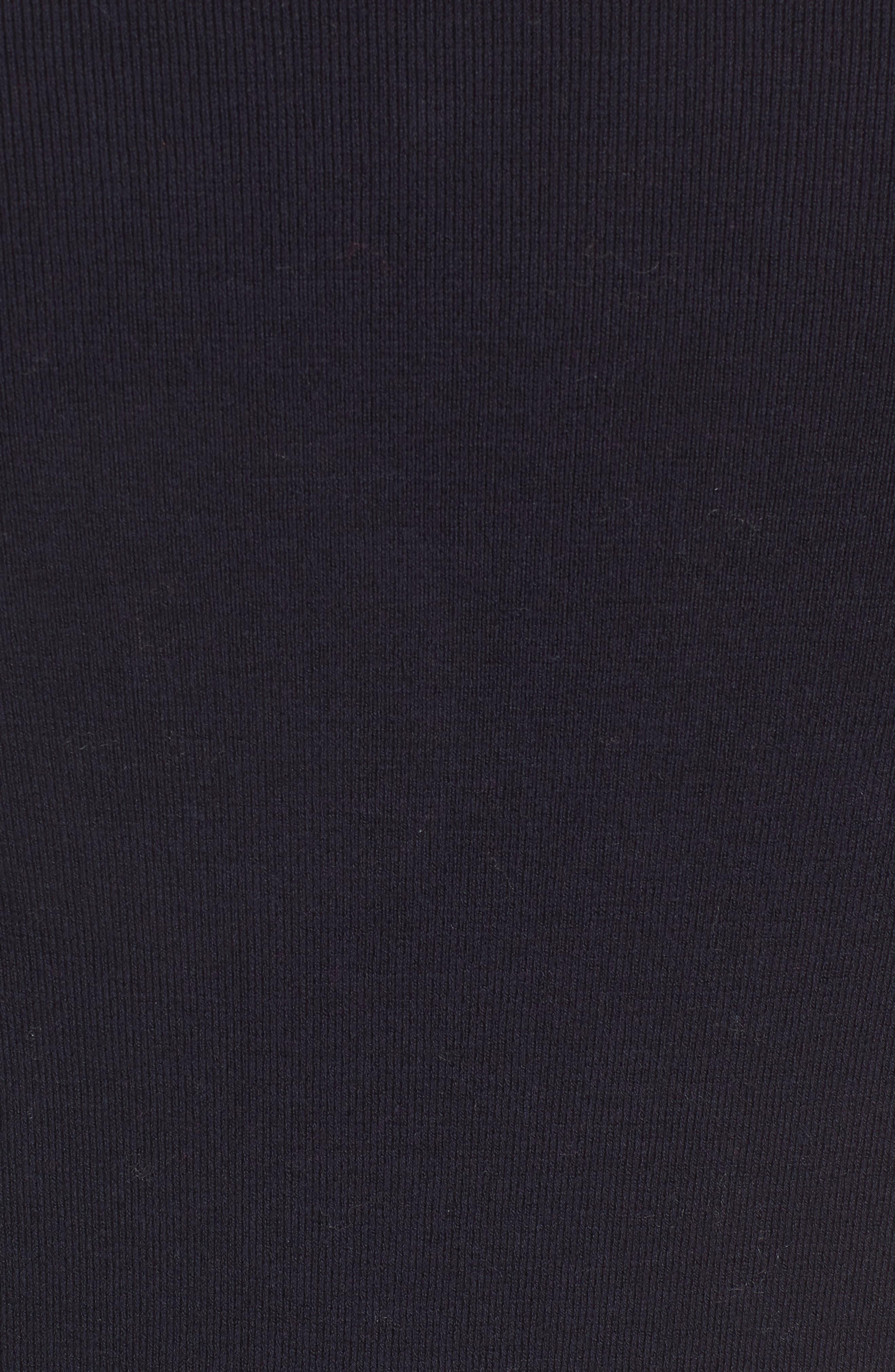 Long Ribbed Cardigan,                             Alternate thumbnail 5, color,                             Navy Blazer