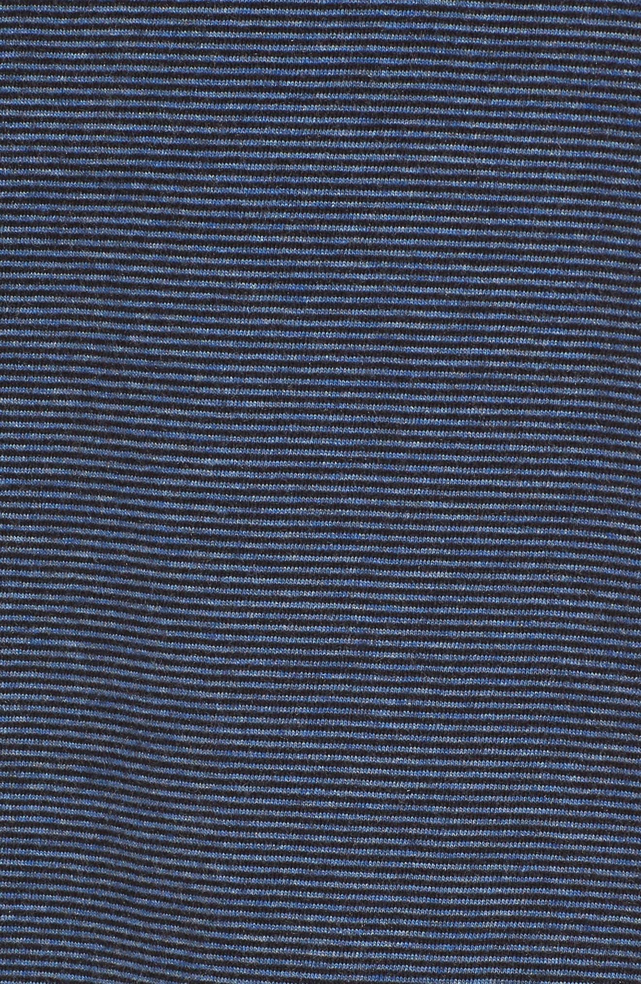 JQ Regular Fit Stripe Polo,                             Alternate thumbnail 5, color,                             Heather Blue Nights