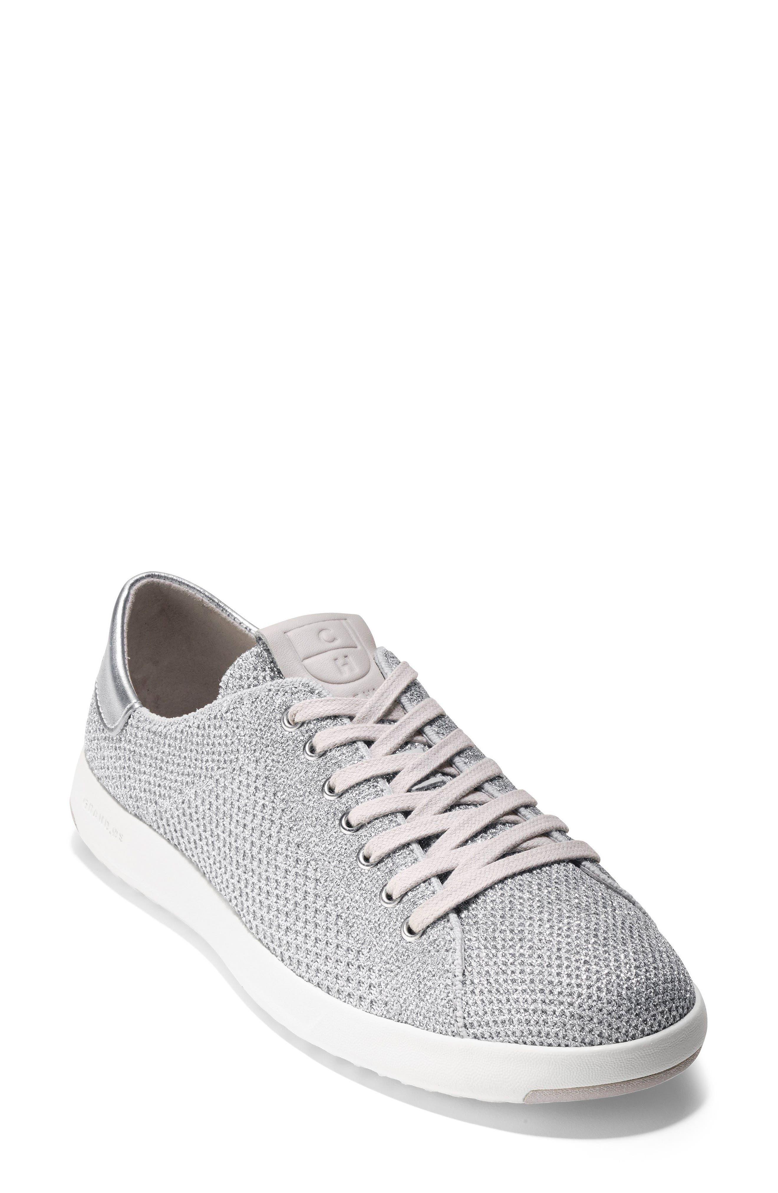 GrandPro Stitchlite Sneaker,                             Main thumbnail 1, color,                             Silver Fabric