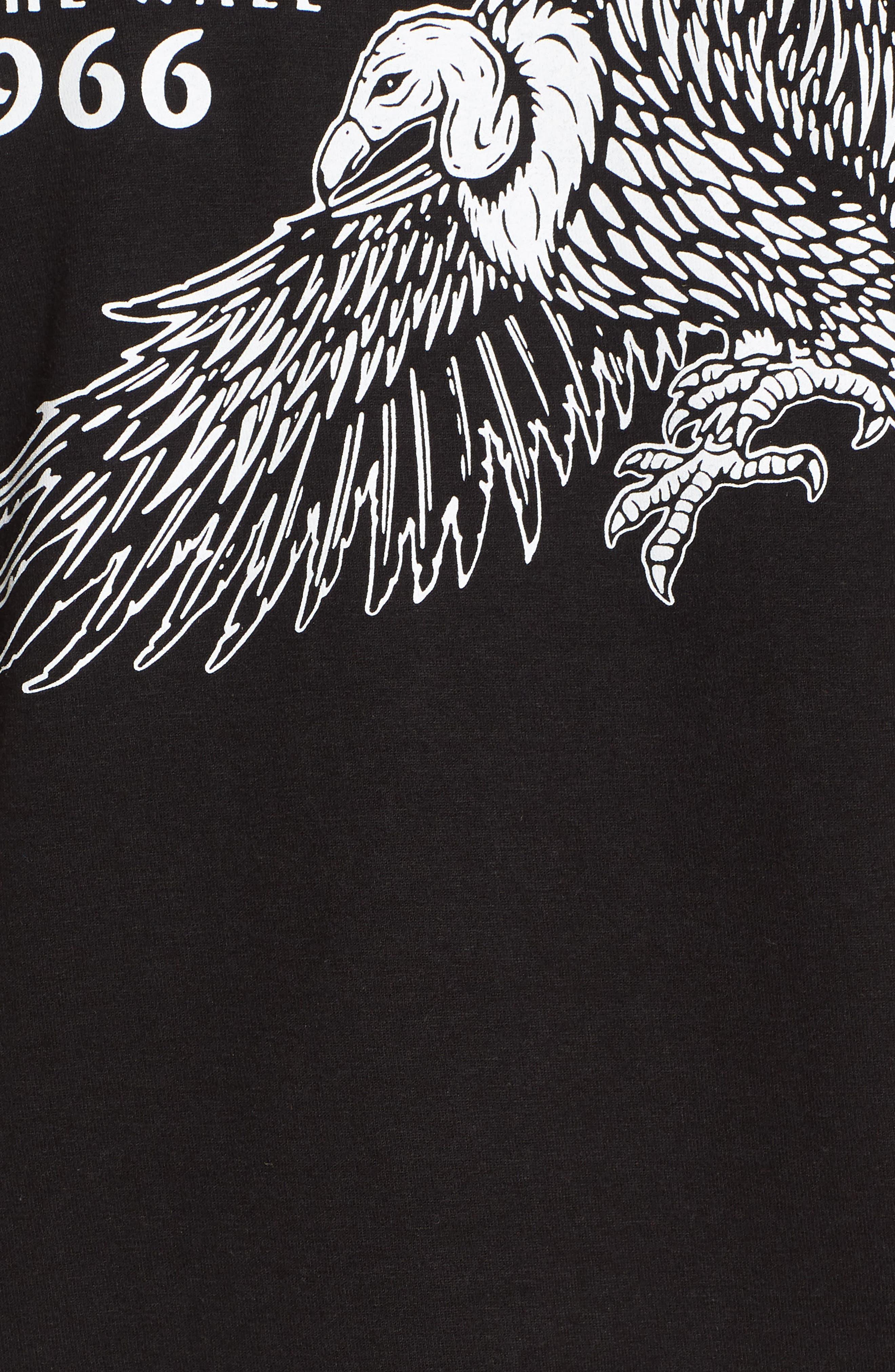 Vulture Graphic T-Shirt,                             Alternate thumbnail 5, color,                             Black