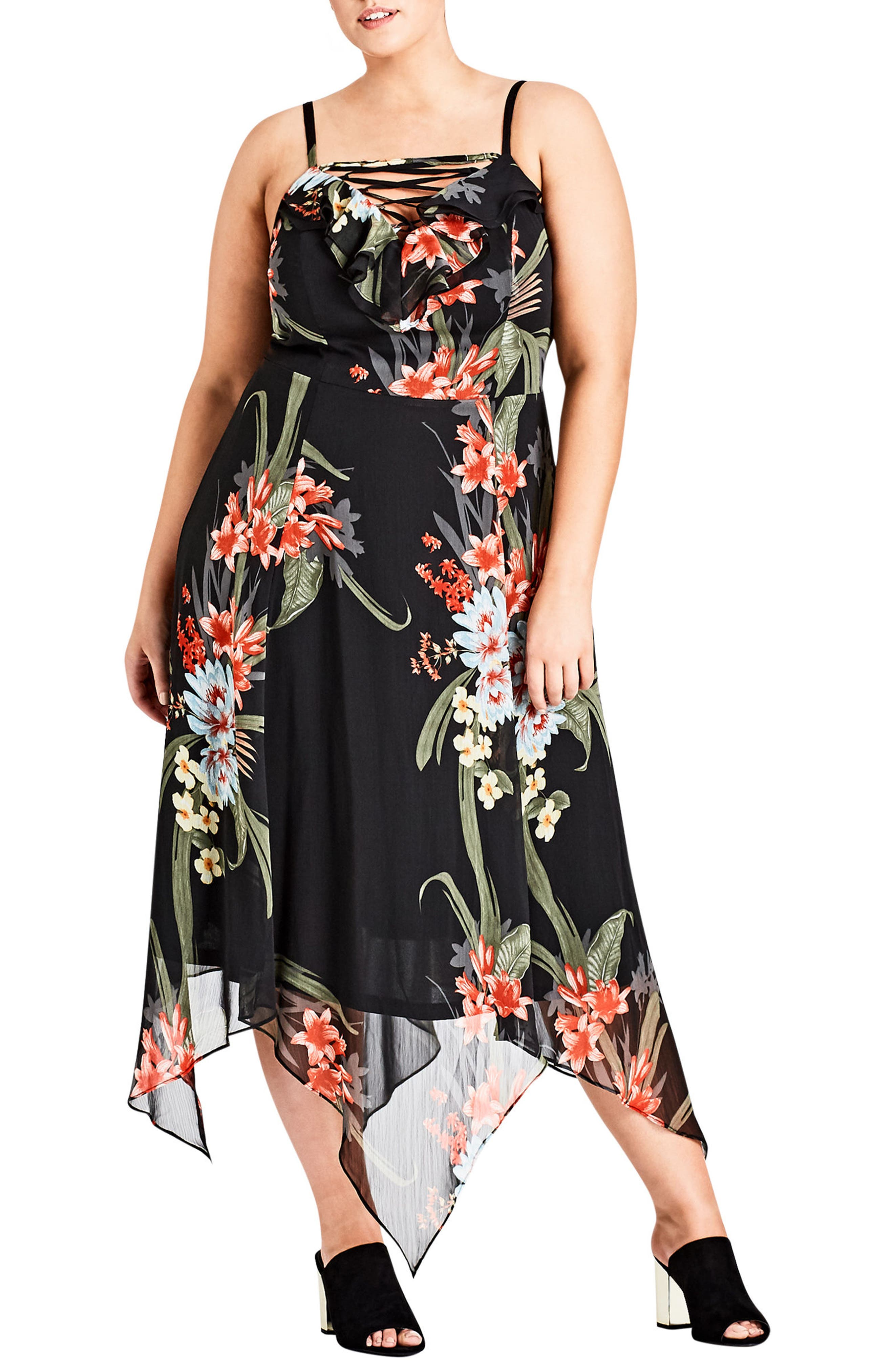 Floridity Sundress,                             Main thumbnail 1, color,                             Black