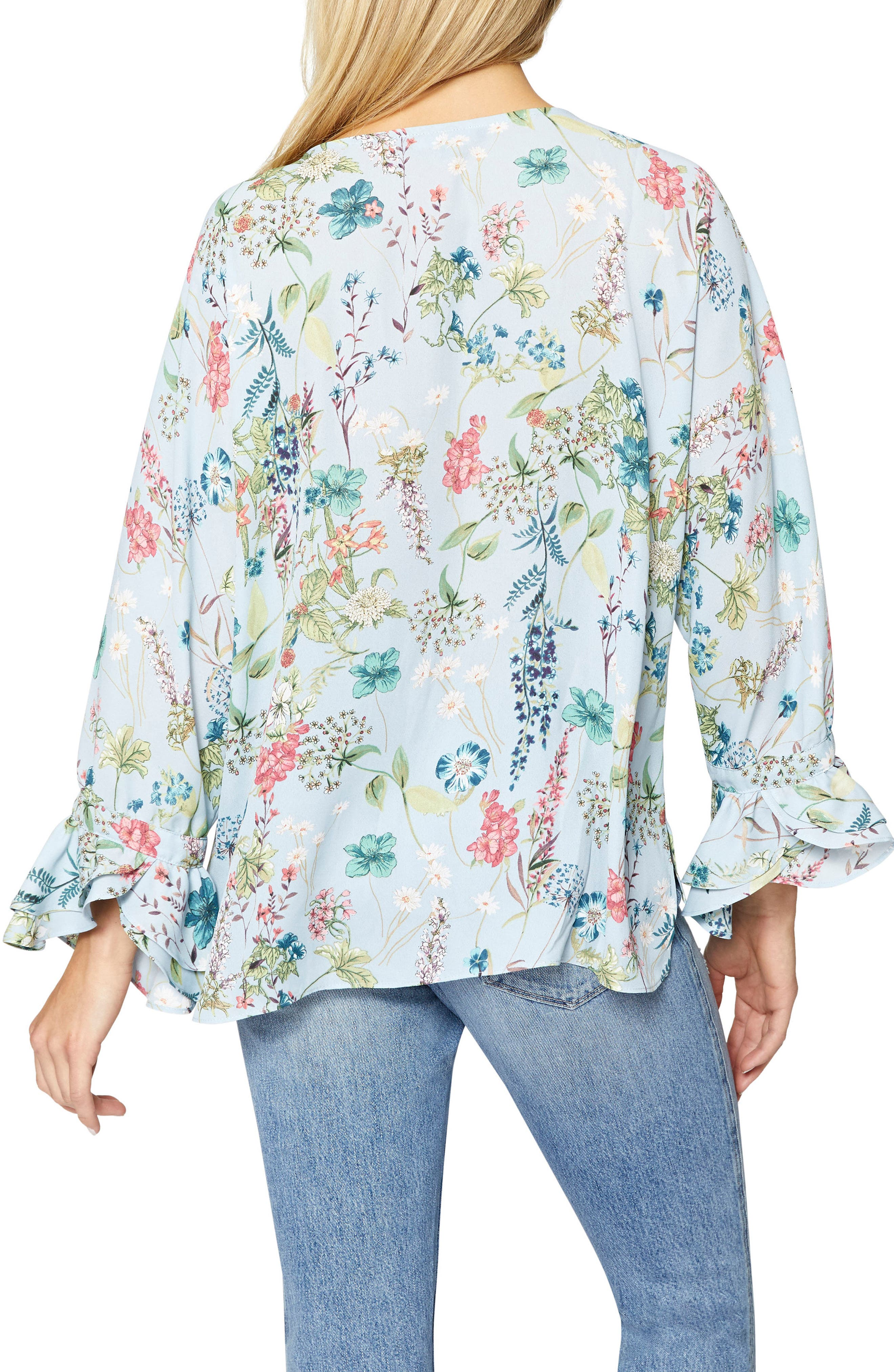 Posey Floral Blouse,                             Alternate thumbnail 2, color,                             Bluebell