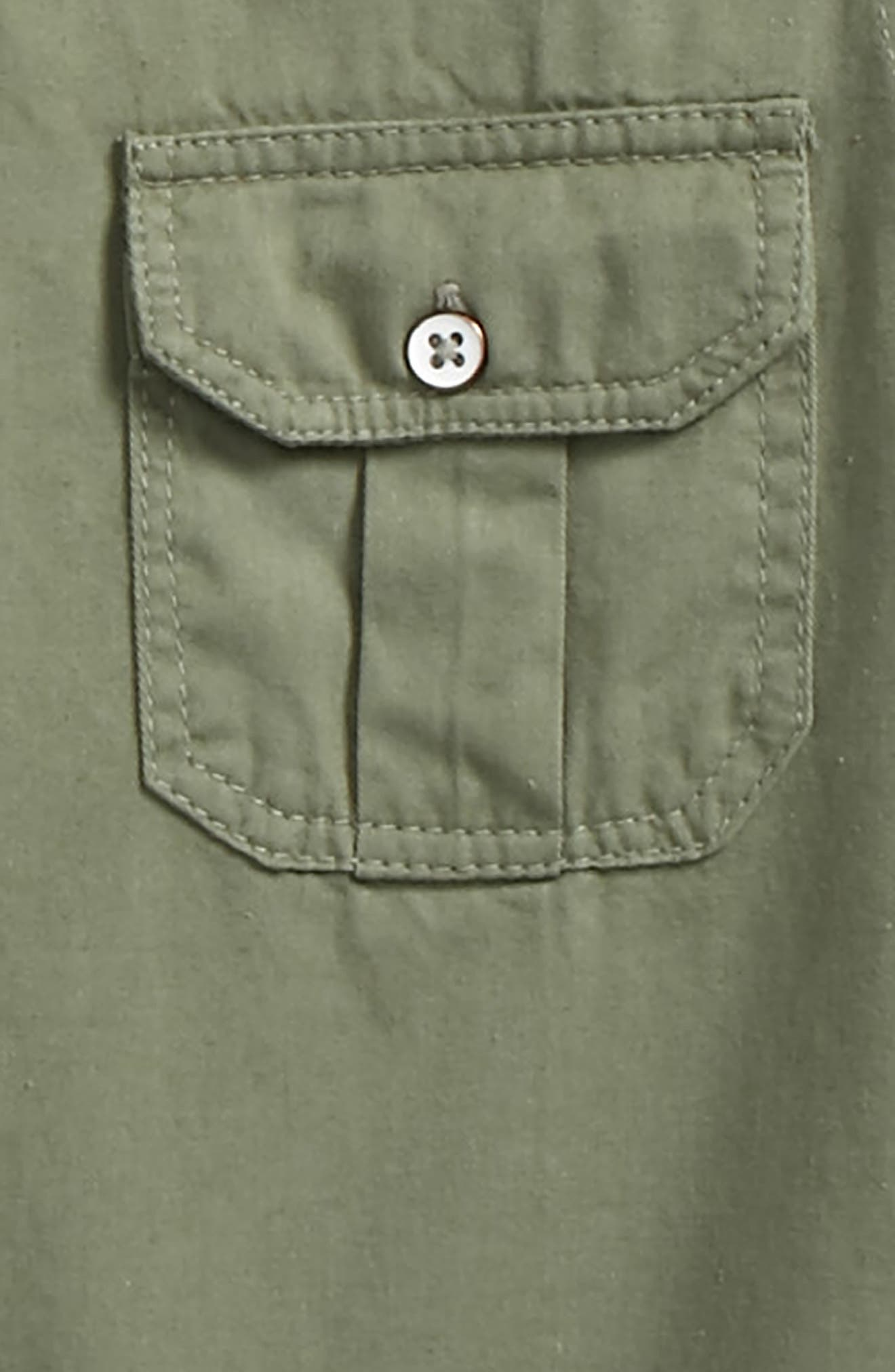 Gus Woven Shirt,                             Alternate thumbnail 2, color,                             Olive