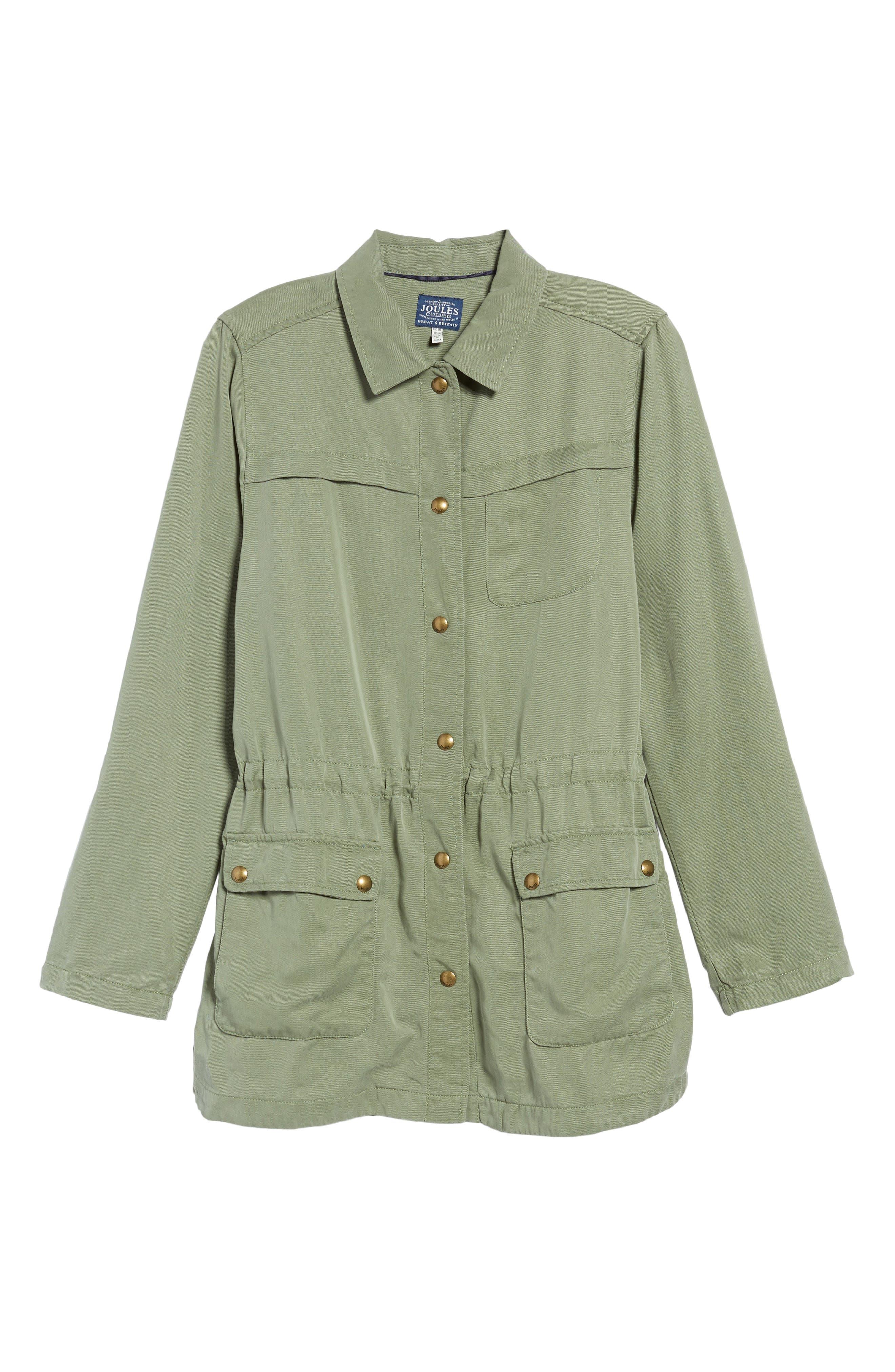 Safari Jacket,                             Alternate thumbnail 7, color,                             Soft Khaki