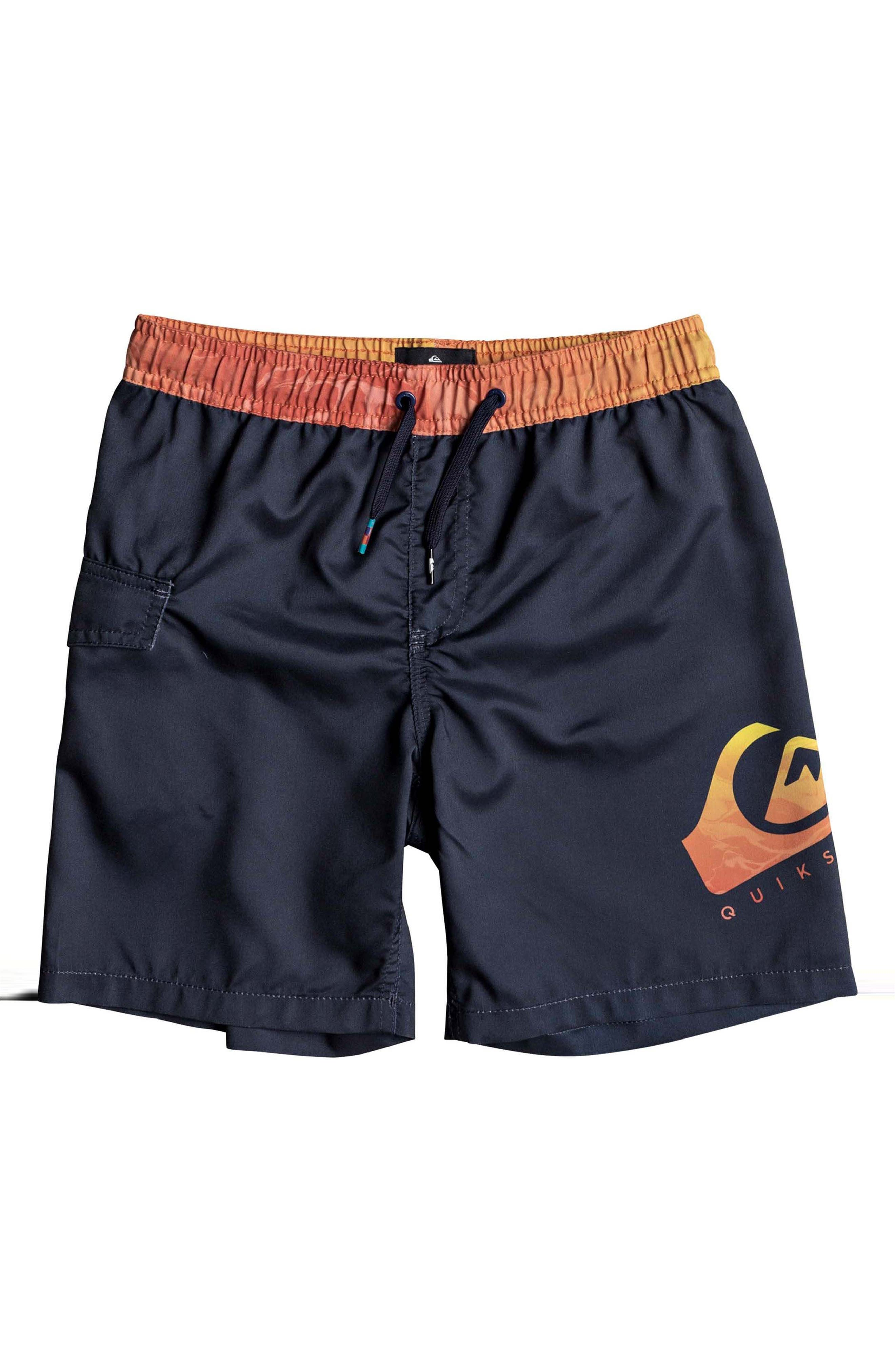 Lava Logo Volley Shorts,                             Main thumbnail 1, color,                             Navy Blazer